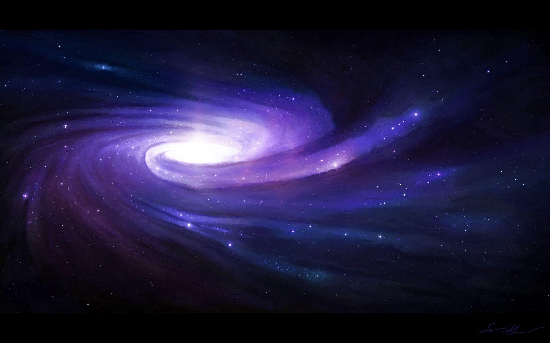 140917 завантажити шпалери Арт, Космос, Зірки, Світіння, Спіраль - заставки і картинки безкоштовно