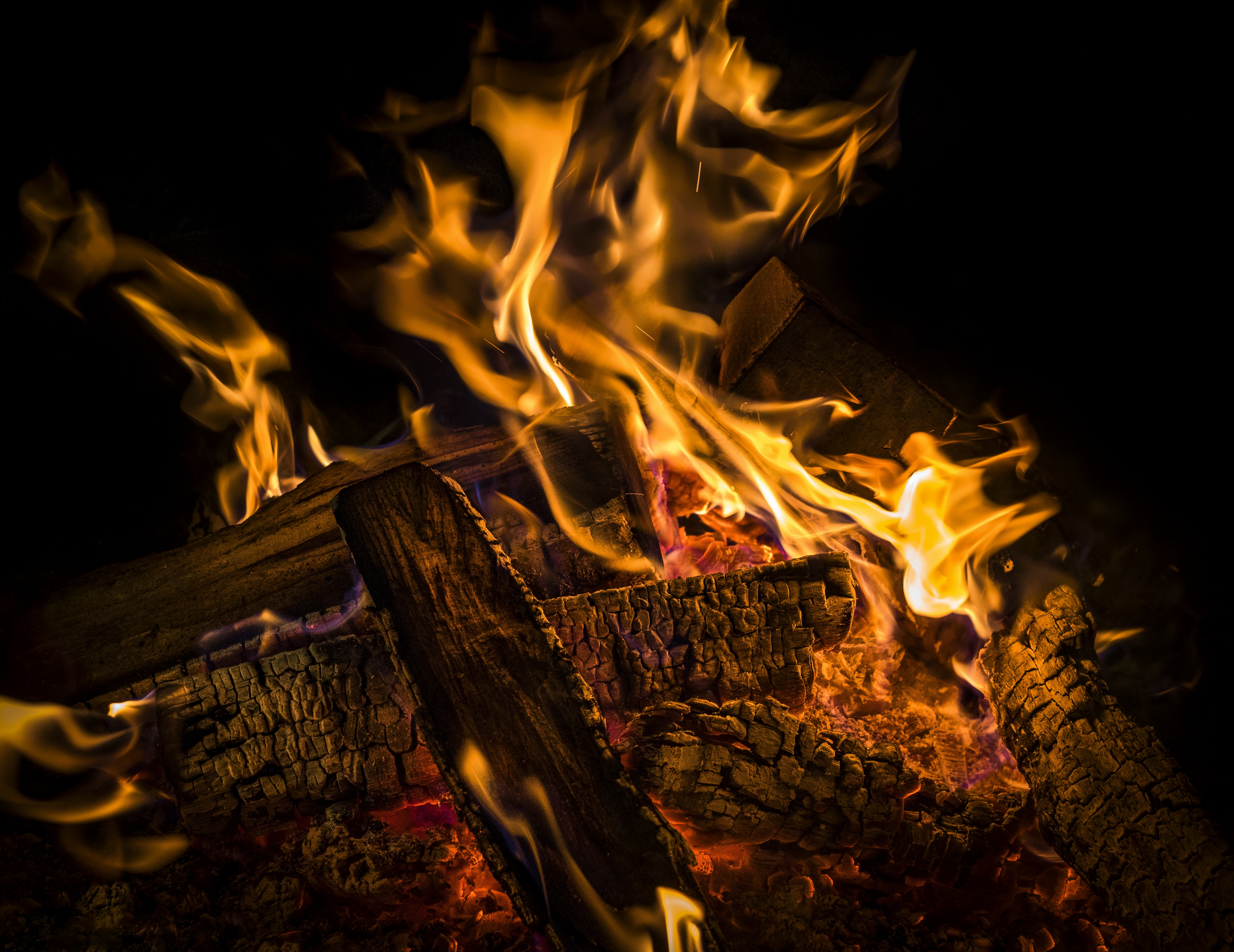 130441 download wallpaper Miscellanea, Bonfire, Coals, Miscellaneous, Firewood, Ash screensavers and pictures for free