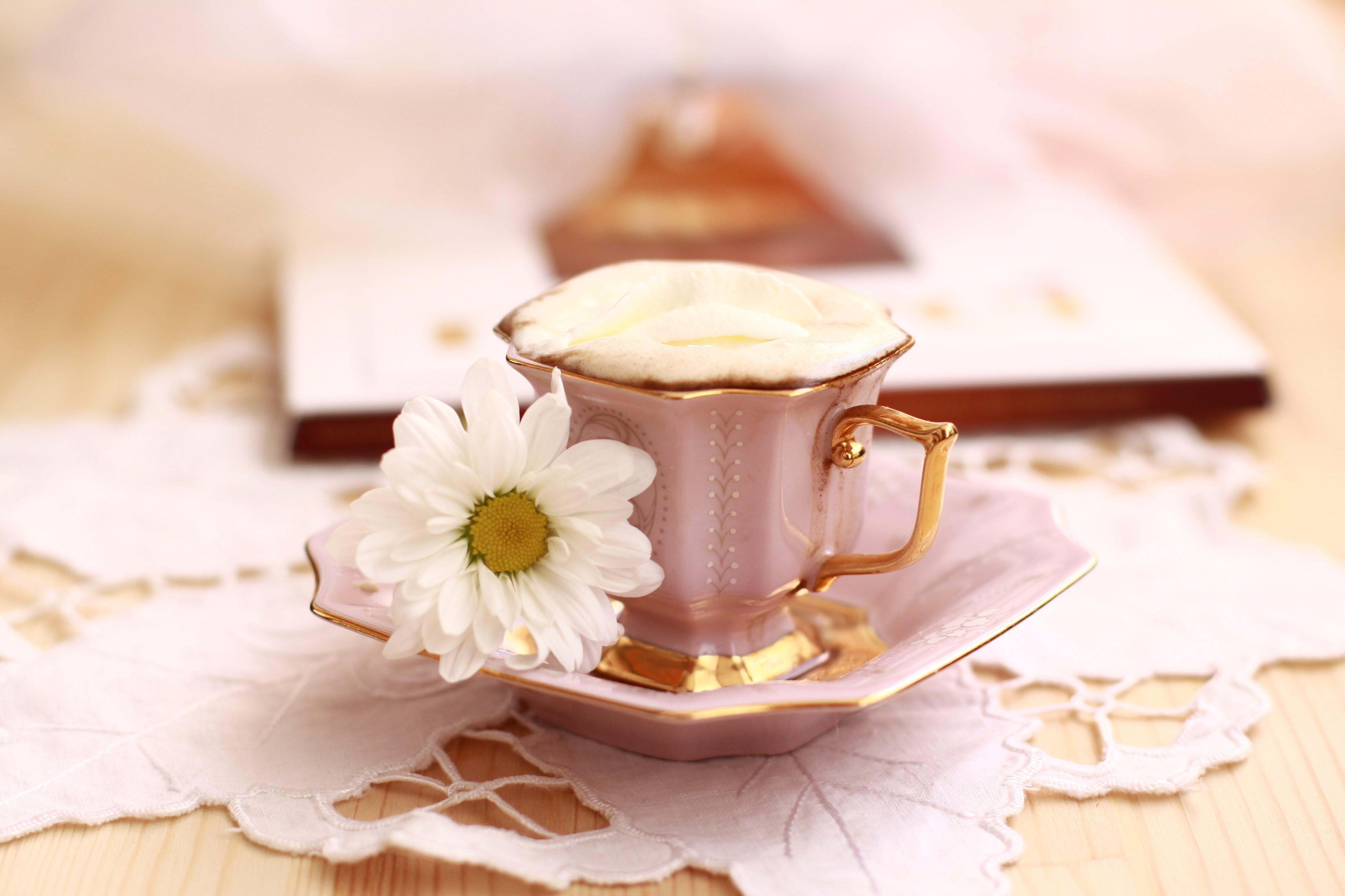 66043 Screensavers and Wallpapers Bouquet for phone. Download Flowers, Food, Summer, Coffee, Still Life, Cup, Bouquet, Morning, Basket, Breakfast pictures for free