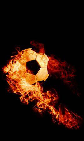 149311壁紙のダウンロードスポーツ, 玉, 球, 火災, サッカー, 暗い背景, 火炎, 炎-スクリーンセーバーと写真を無料で