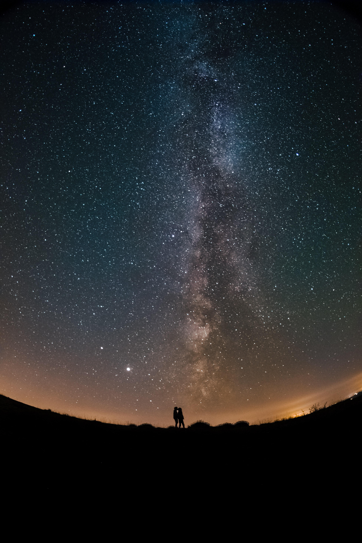 101239 Заставки и Обои Любовь на телефон. Скачать Разное, Любовь, Силуэт, Ночь, Звездное Небо, Звезды картинки бесплатно