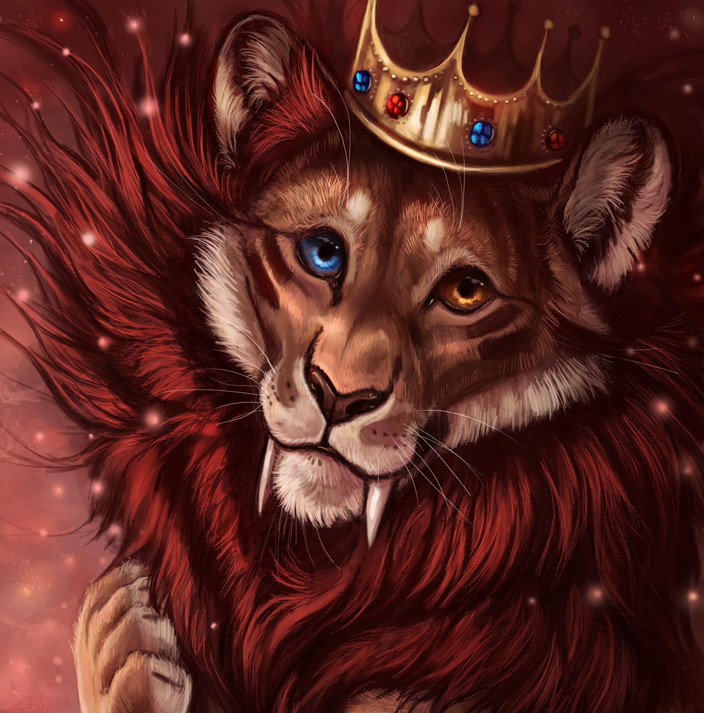 71447 baixar papel de parede Arte, Leão, Coroa, Um Leão, Rei Das Feras, Rei Das Bestas, Rei, Czar - protetores de tela e imagens gratuitamente