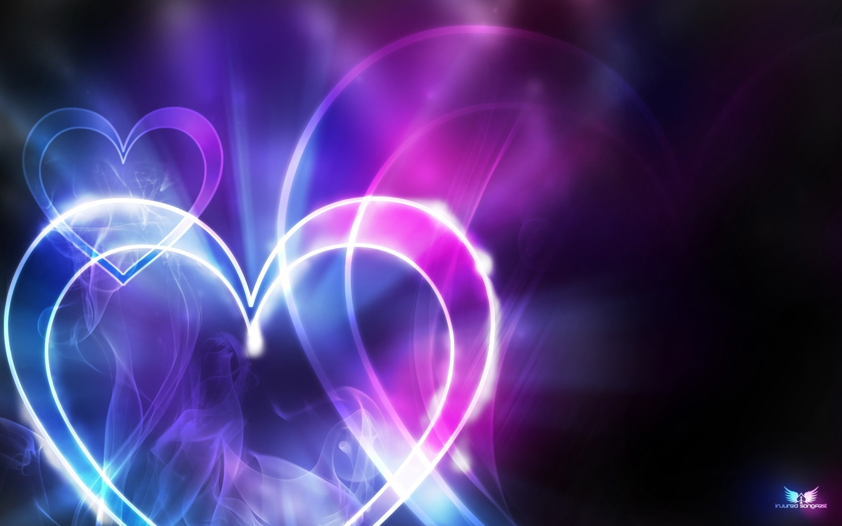 23853 download wallpaper Holidays, Background, Hearts, Love, Valentine's Day, Violet screensavers and pictures for free