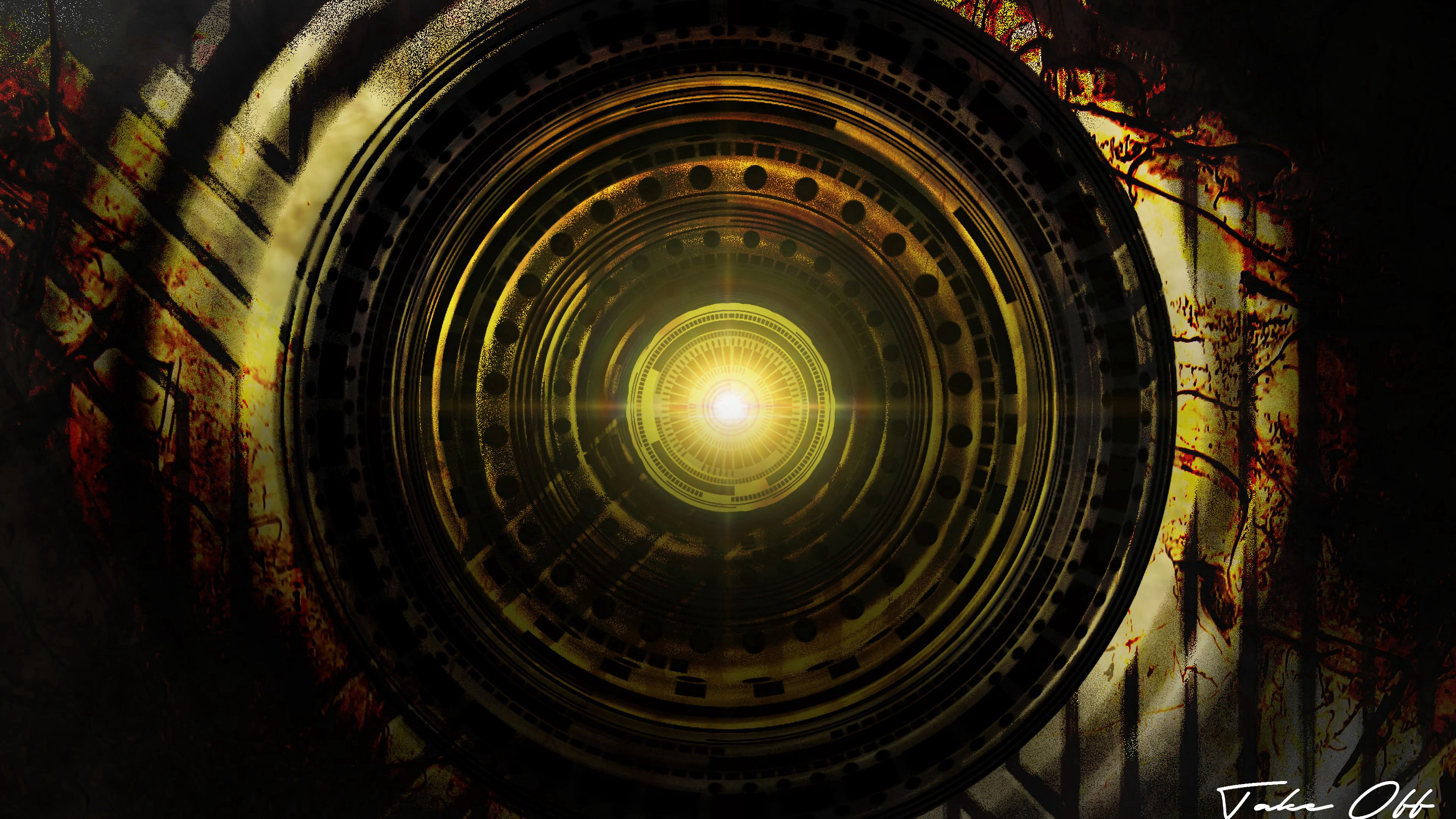 139803 download wallpaper Abstract, Circles, Shining, Glare, Bright screensavers and pictures for free