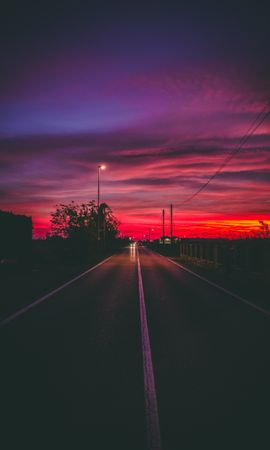 150179 Screensavers and Wallpapers Dark for phone. Download Dark, Road, Sunset, Horizon, Markup pictures for free