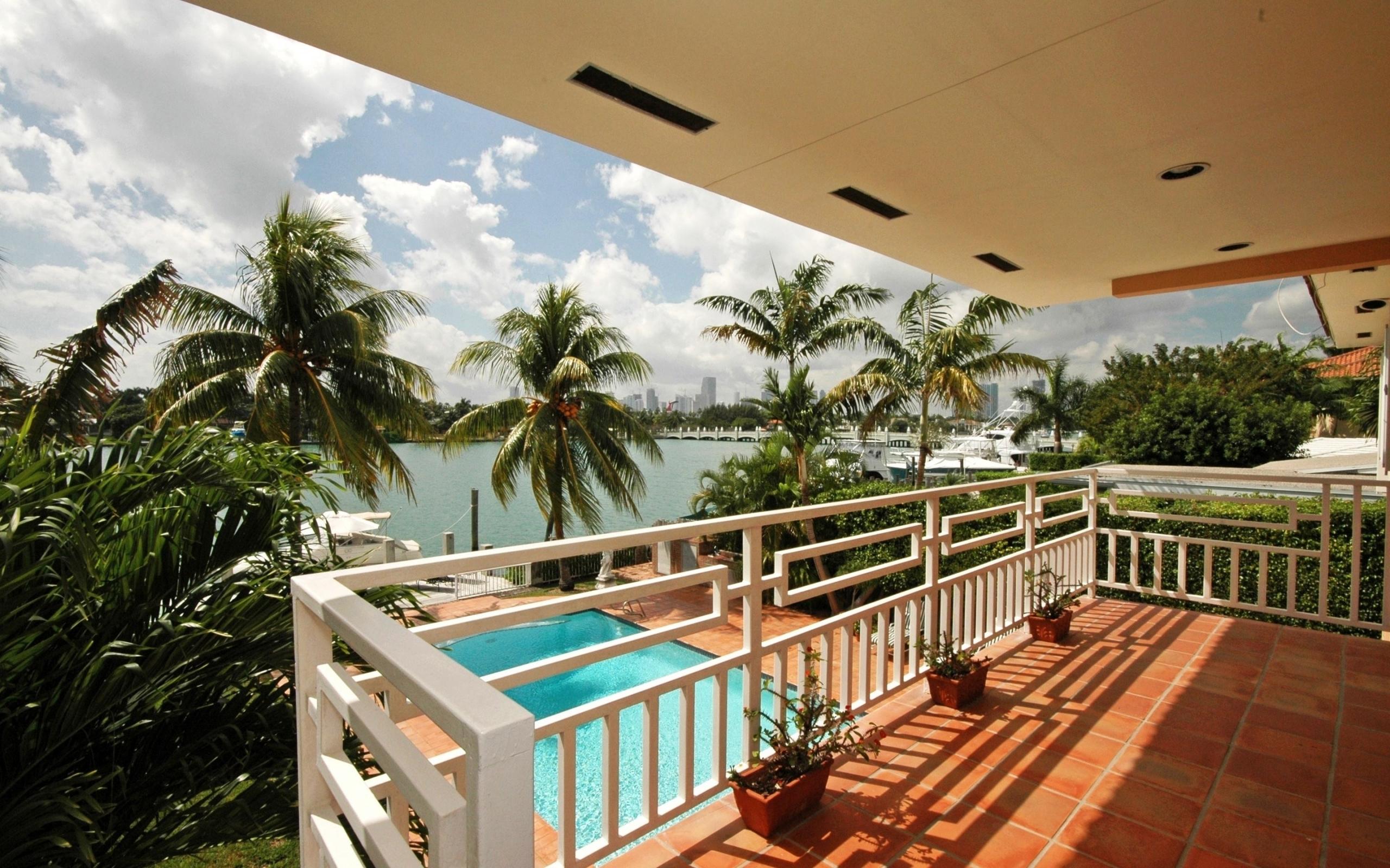 25977 免費下載壁紙 景观, 房子, 海, 棕榈 屏保和圖片