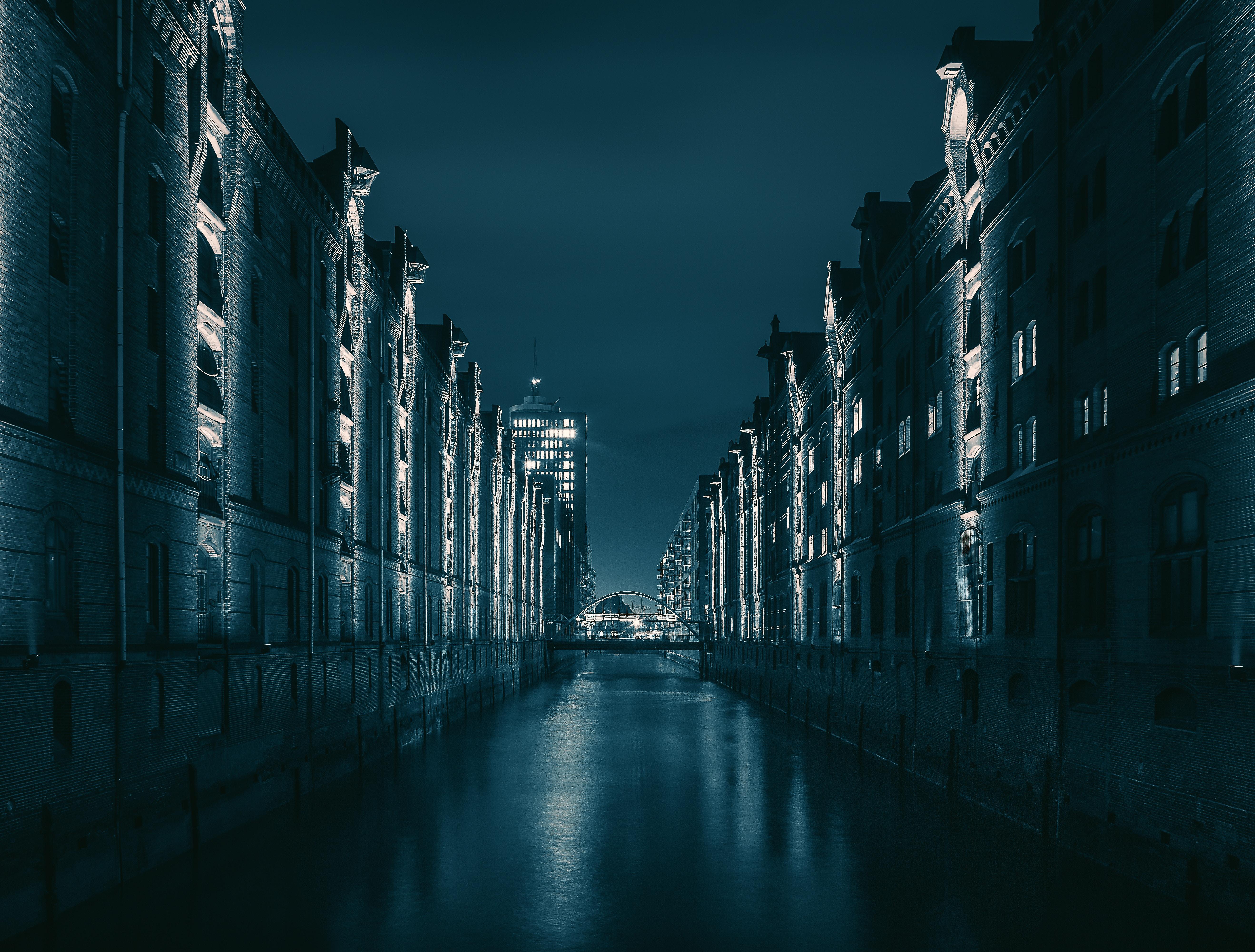 98219 Salvapantallas y fondos de pantalla Arquitectura en tu teléfono. Descarga imágenes de Ciudad De Noche, Ciudad Nocturna, Puente, Hamburgo, Alemania, Arquitectura, Ciudades gratis