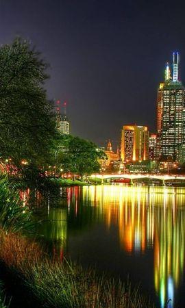 30609 скачать обои Пейзаж, Города, Ночь - заставки и картинки бесплатно