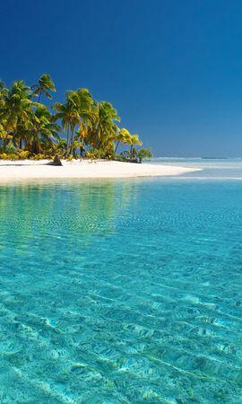 20803 скачать Бирюзовые обои на телефон бесплатно, Пейзаж, Море, Пляж, Пальмы Бирюзовые картинки и заставки на мобильный