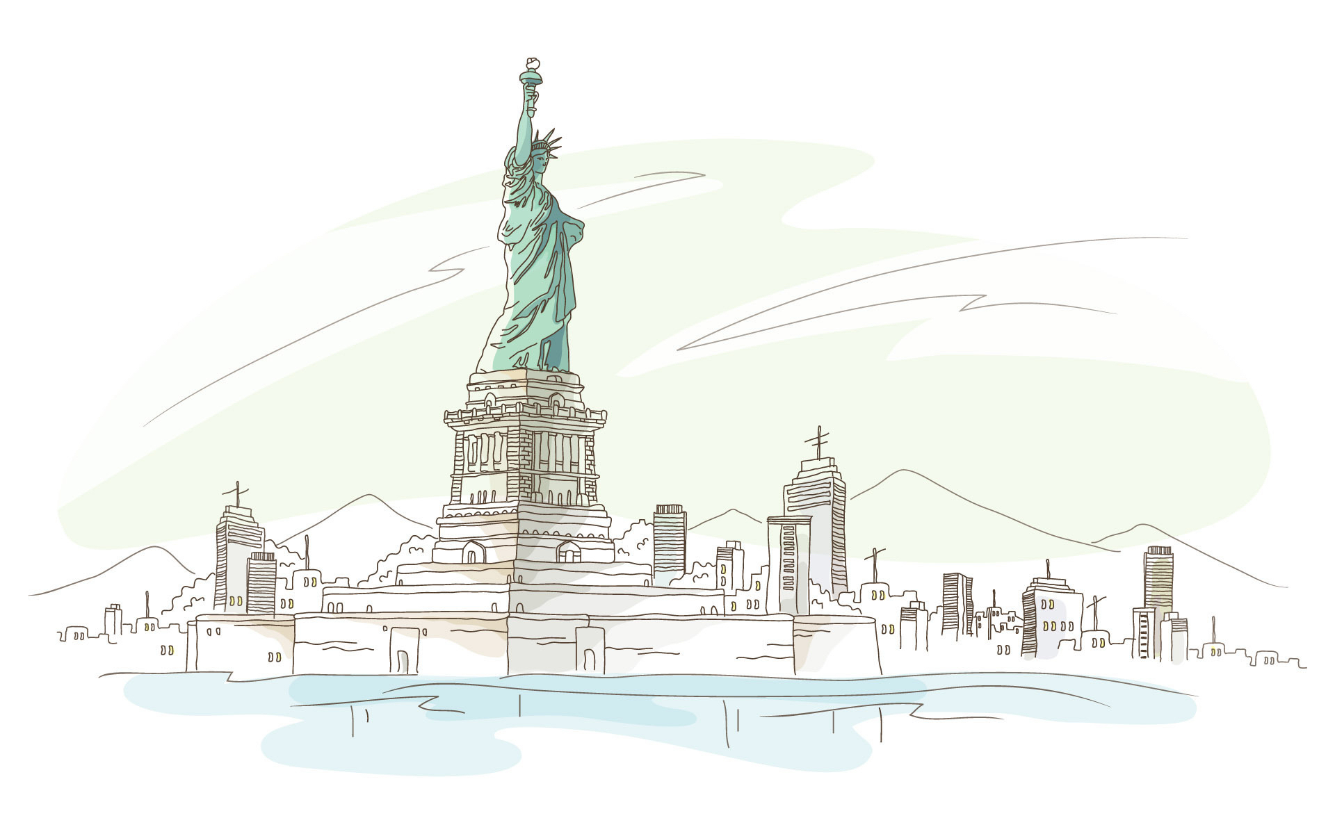 46895 download wallpaper Landscape, Statue Of Liberty, Pictures screensavers and pictures for free