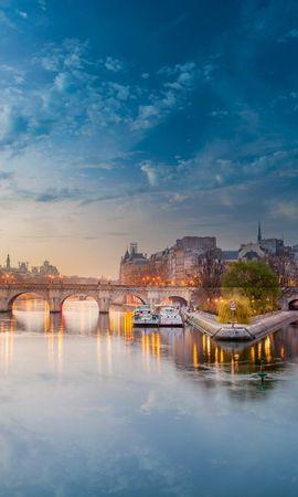 69620 baixar papel de parede Paris, França, Feno De Rio, Rio Do Feno, Ponte, Cidades - protetores de tela e imagens gratuitamente