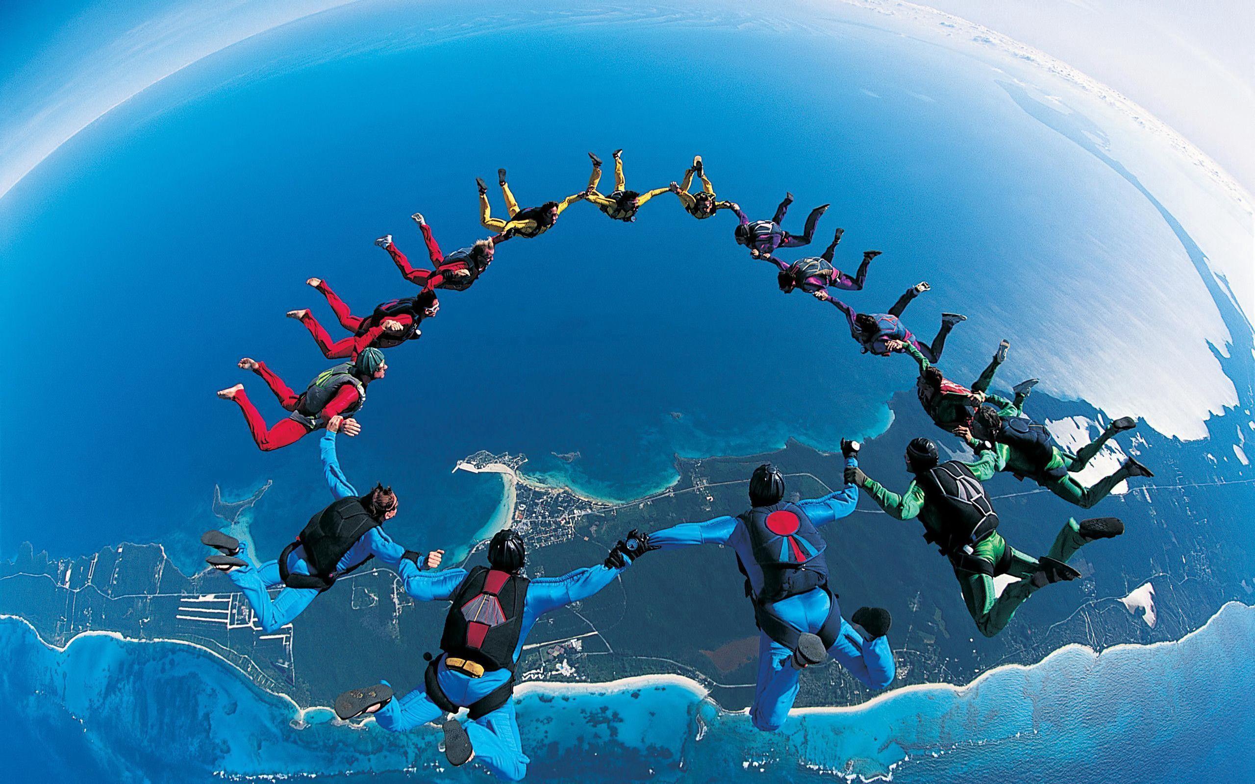 108733 baixar papel de parede Esportes, Lindamente, É Lindo., Paraquedismo, Salto De Paraquedas, De Forma Síncrona, Sincronicamente - protetores de tela e imagens gratuitamente
