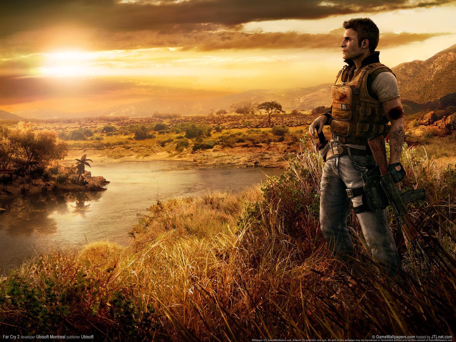 8945 скачать обои Игры, Мужчины, Far Cry 2 - заставки и картинки бесплатно