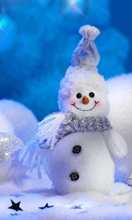 29287 descargar fondo de pantalla Vacaciones, Fondo, Año Nuevo, Muñeco De Nieve: protectores de pantalla e imágenes gratis