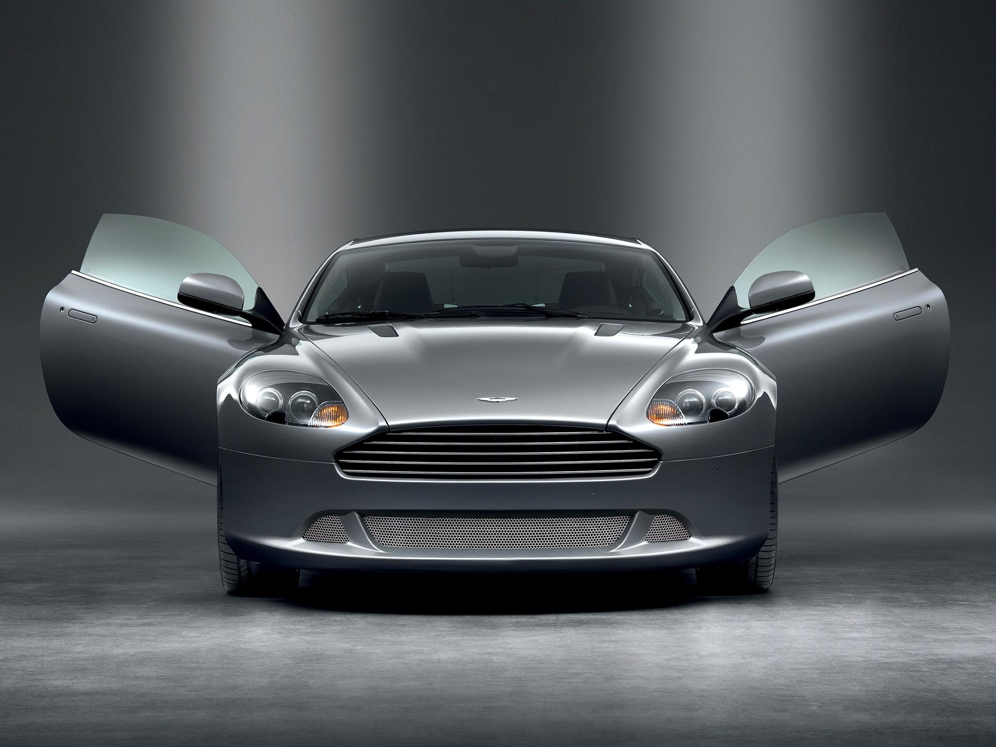 99543 скачать обои Астон Мартин (Aston Martin), Спорт, Машины, Тачки (Cars), Вид Спереди, Серый, 2008, Db9 - заставки и картинки бесплатно