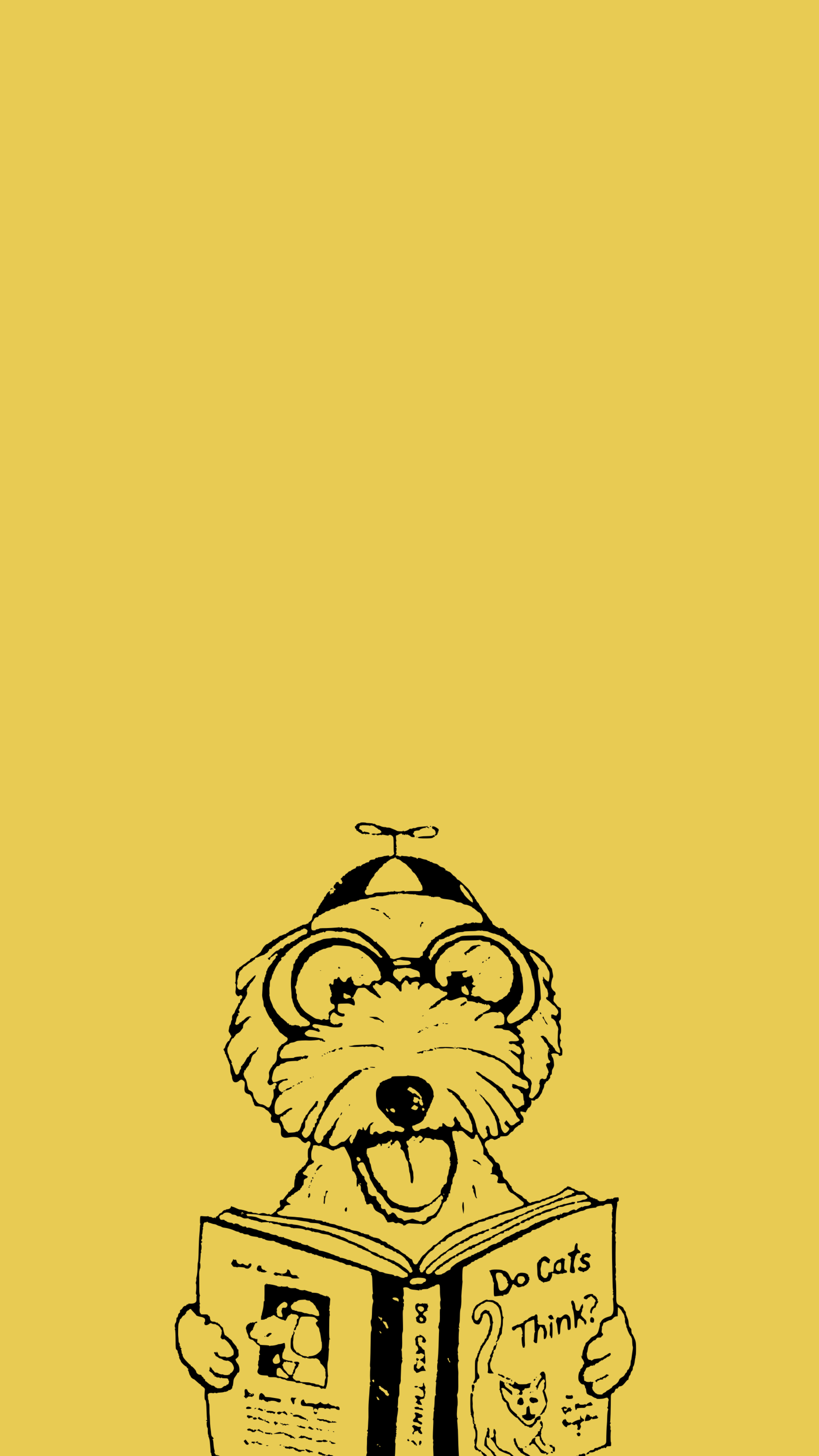 53356 download wallpaper Vector, Dog, Book, Funny, Art screensavers and pictures for free