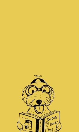 53356 Screensavers and Wallpapers Funny for phone. Download Vector, Dog, Book, Funny, Art pictures for free