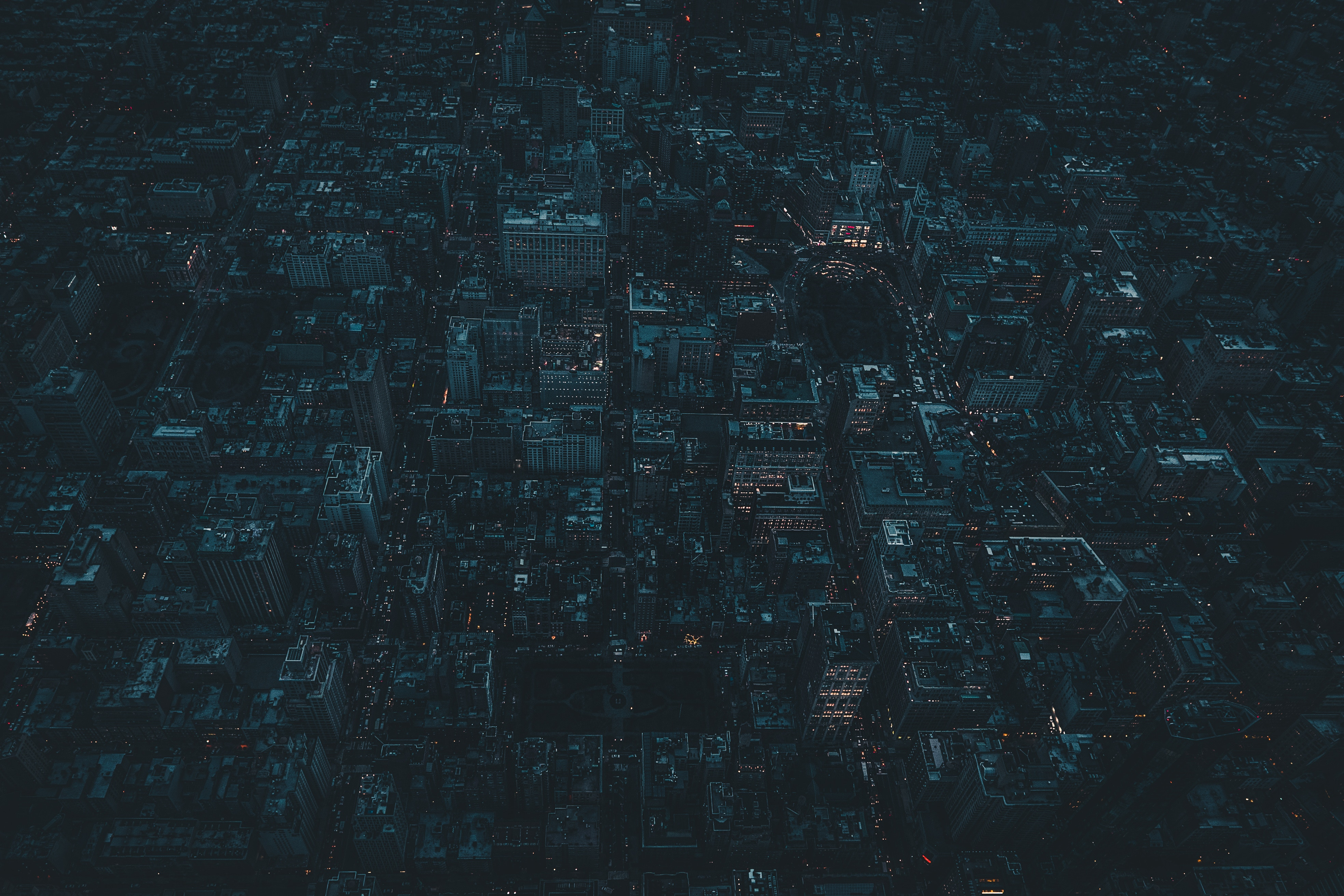 121036 free wallpaper 720x1520 for phone, download images Night, Usa, View From Above, Dark, Night City, City Lights, United States, Megapolis, Megalopolis, New York 720x1520 for mobile