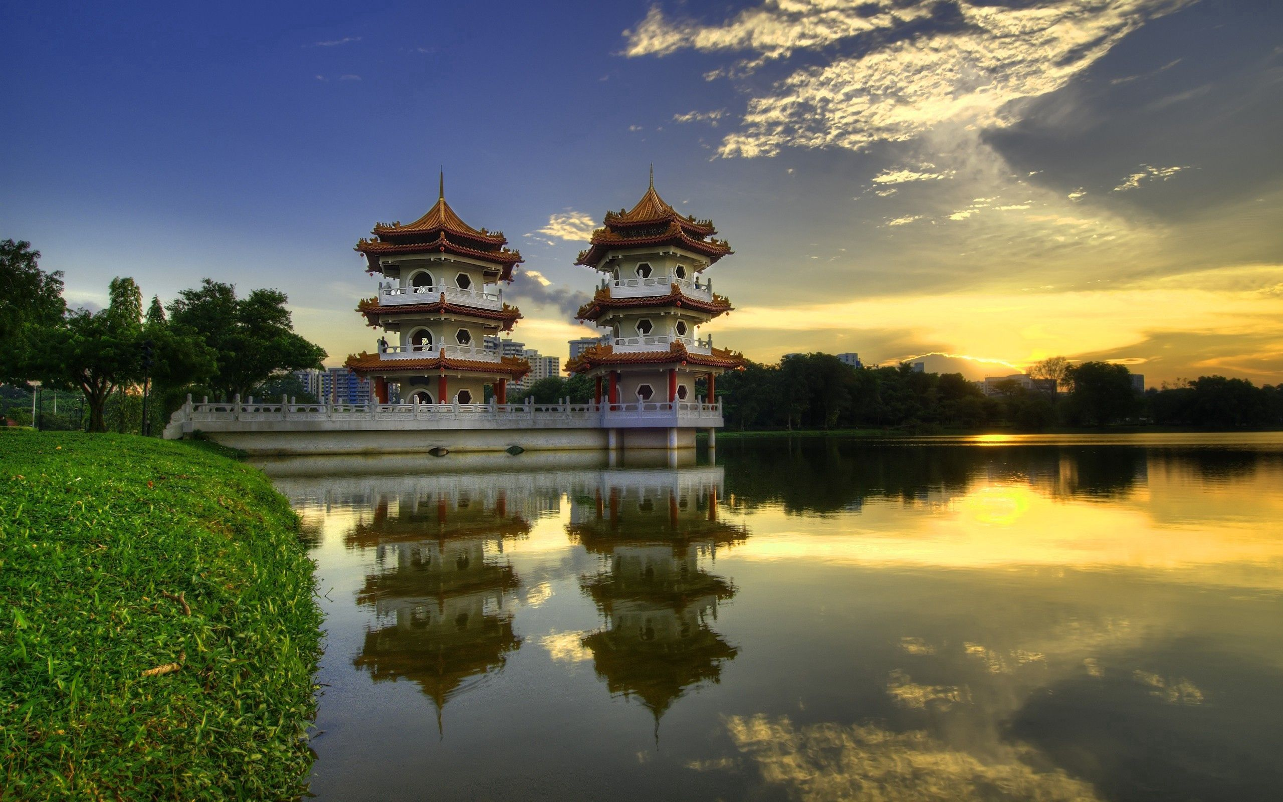 70505 Screensavers and Wallpapers Houses for phone. Download Houses, City, China, Water, Grass, Cities pictures for free