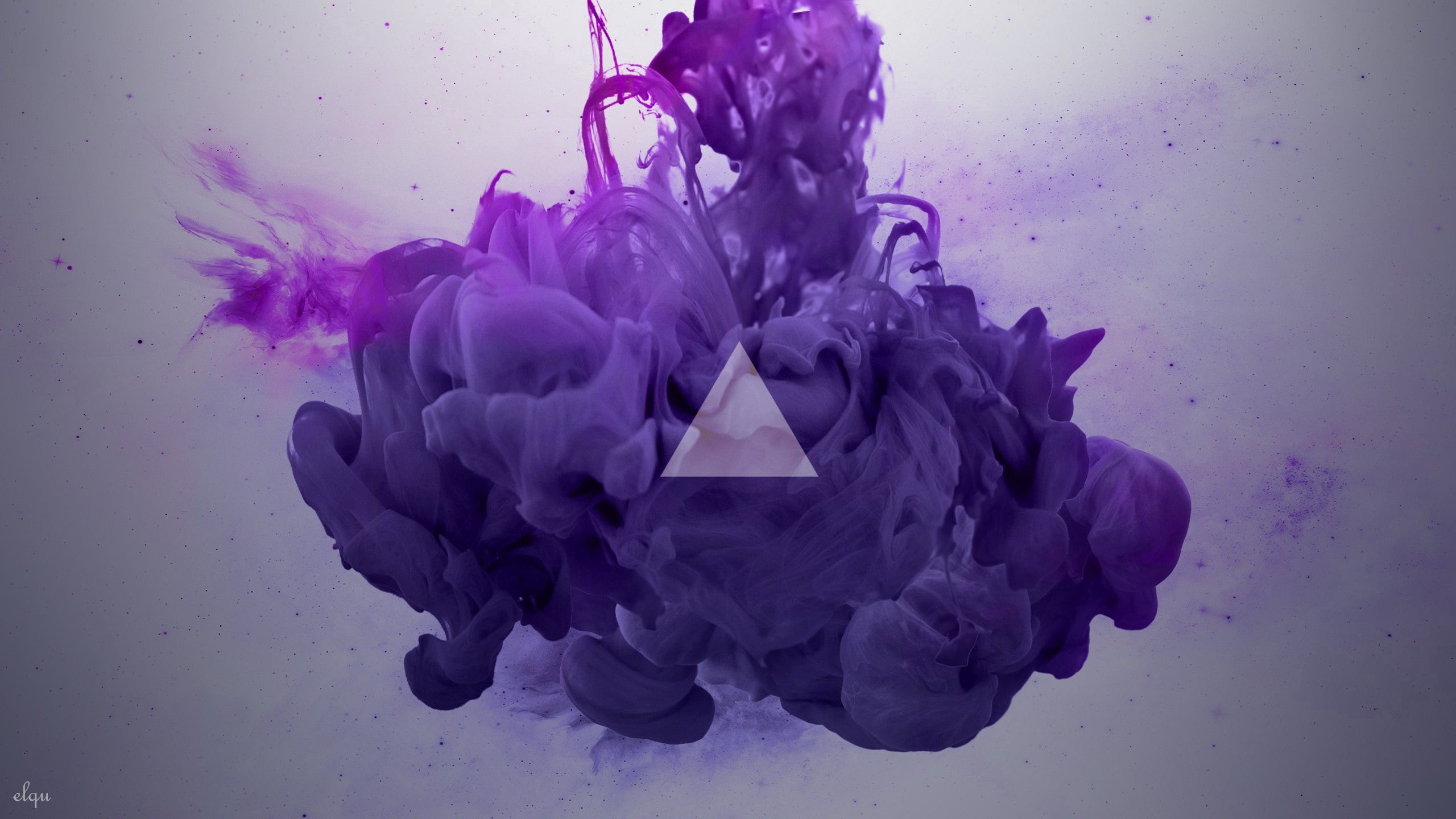 109429 download wallpaper Abstract, Smoke, Lilac, Triangle screensavers and pictures for free