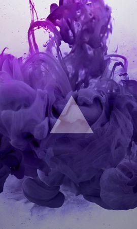 109429 télécharger le fond d'écran Abstrait, Triangle, Lilas, Fumée - économiseurs d'écran et images gratuitement