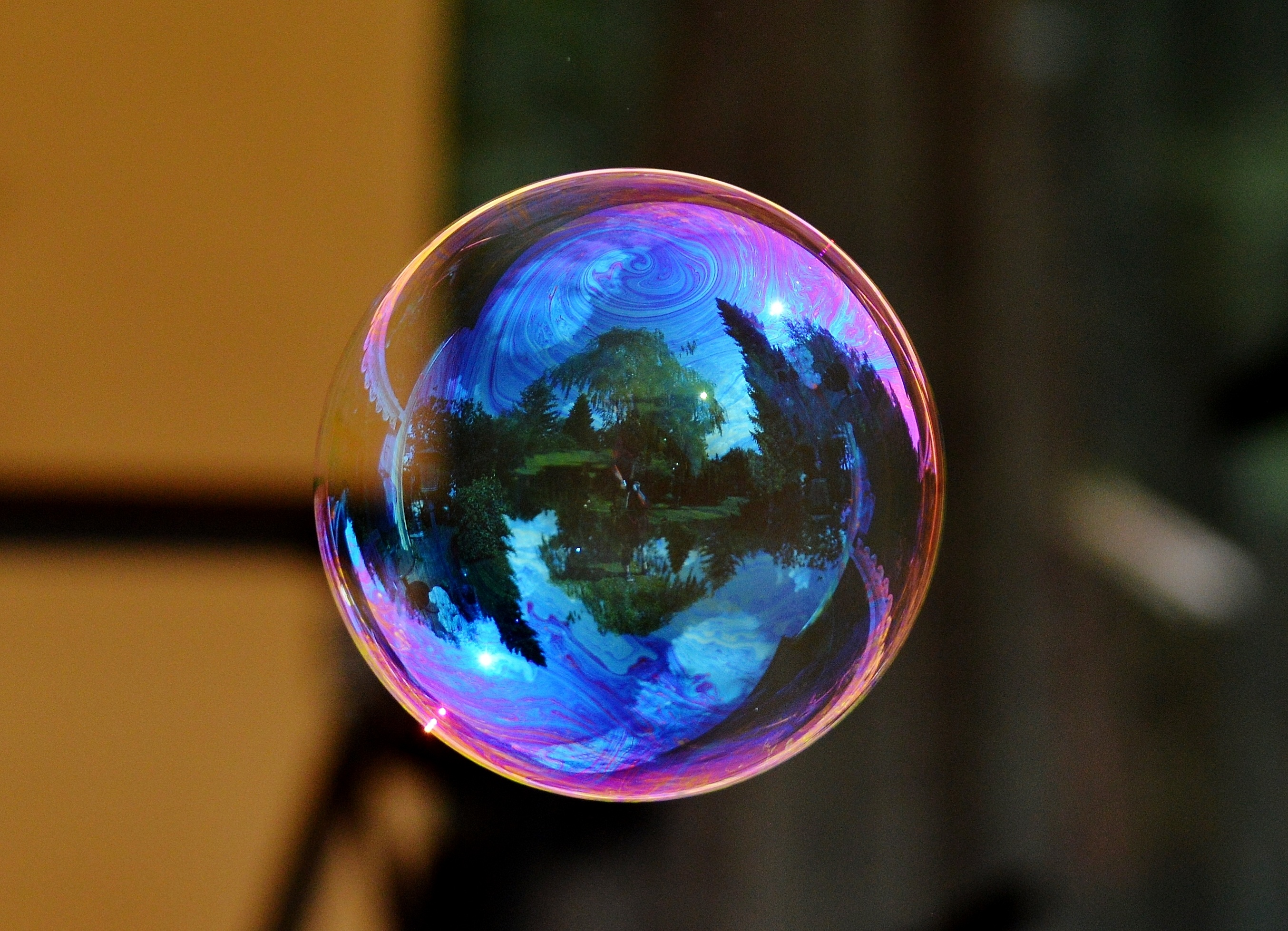 89941 Screensavers and Wallpapers Macro for phone. Download Reflection, Macro, Ball, Colorful, Colourful, Soap Bubble pictures for free