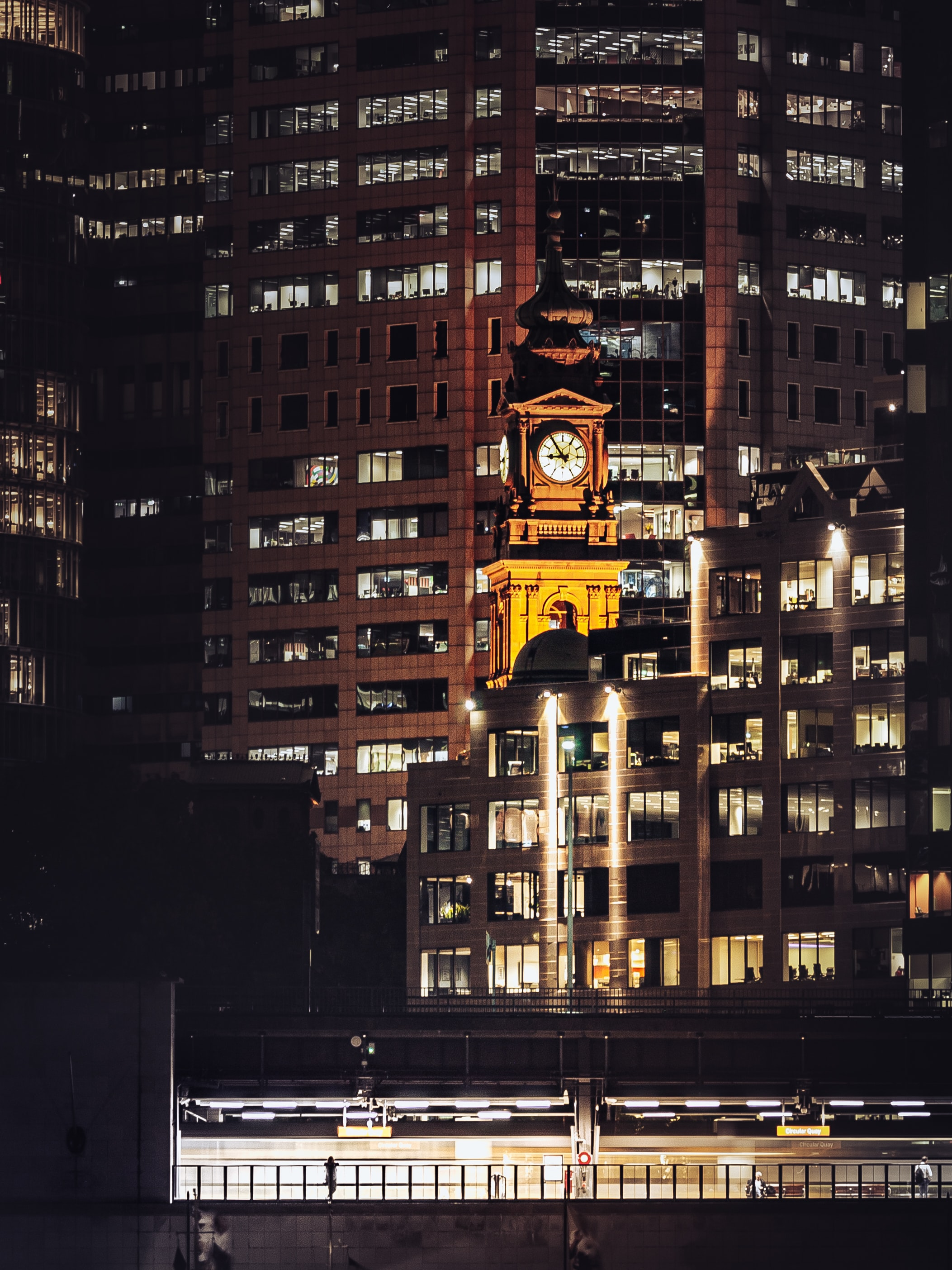 71210 download wallpaper Building, City, Night, Sydney, Australia, Architecture, Cities screensavers and pictures for free