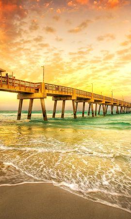 27754 скачать обои Пейзаж, Закат, Море, Пляж - заставки и картинки бесплатно