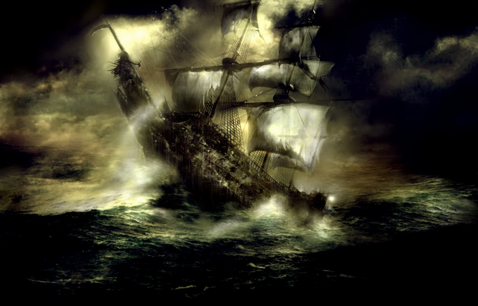 284 download wallpaper Landscape, Water, Sky, Art, Ships, Sea, Night screensavers and pictures for free