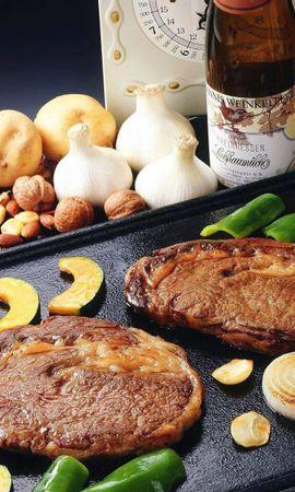 111411 télécharger le fond d'écran Nourriture, Viande, Plaque De Cuisson, Pan, Frire, Légumes - économiseurs d'écran et images gratuitement