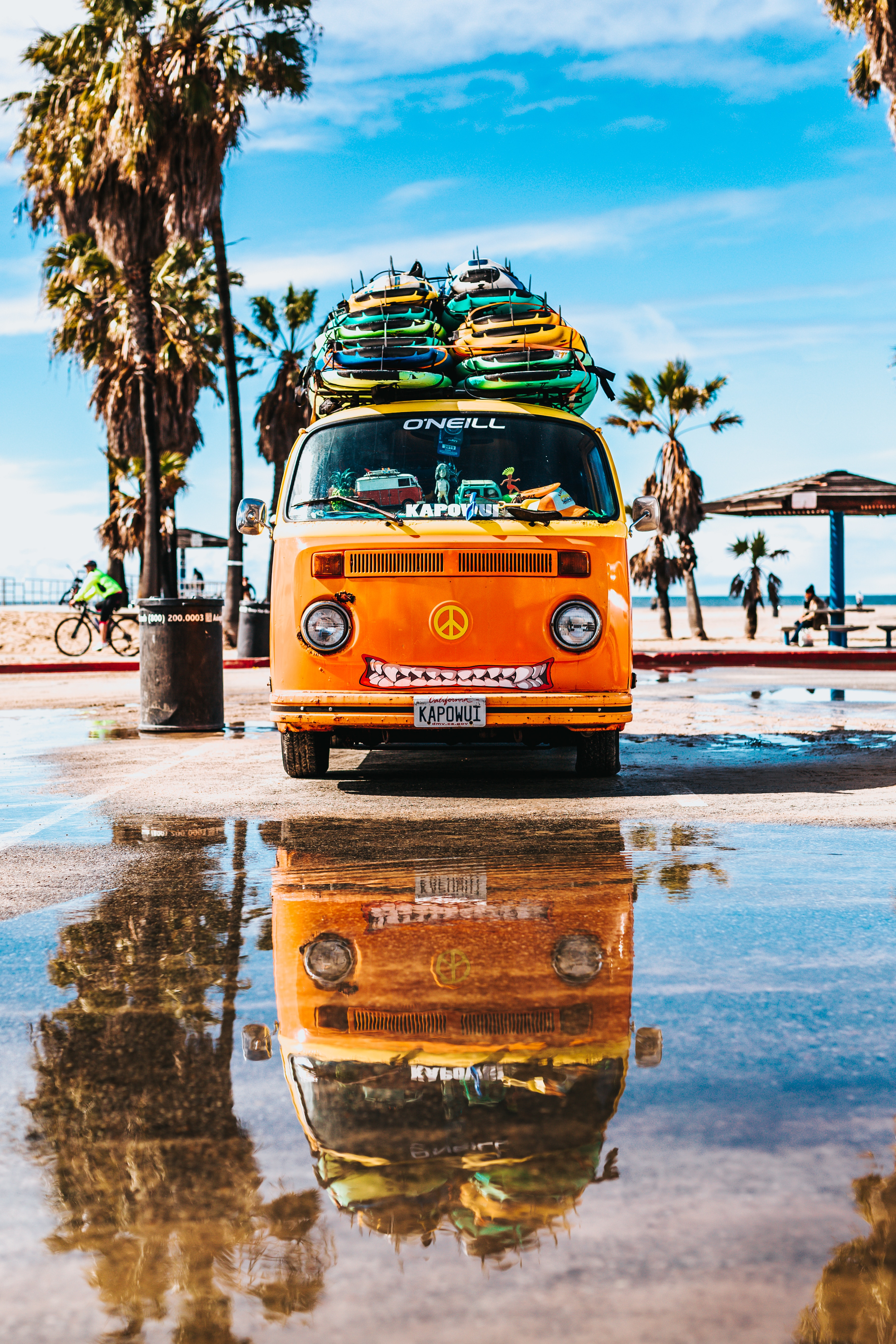 72975 download wallpaper Cars, Bus, Serfing, Summer screensavers and pictures for free