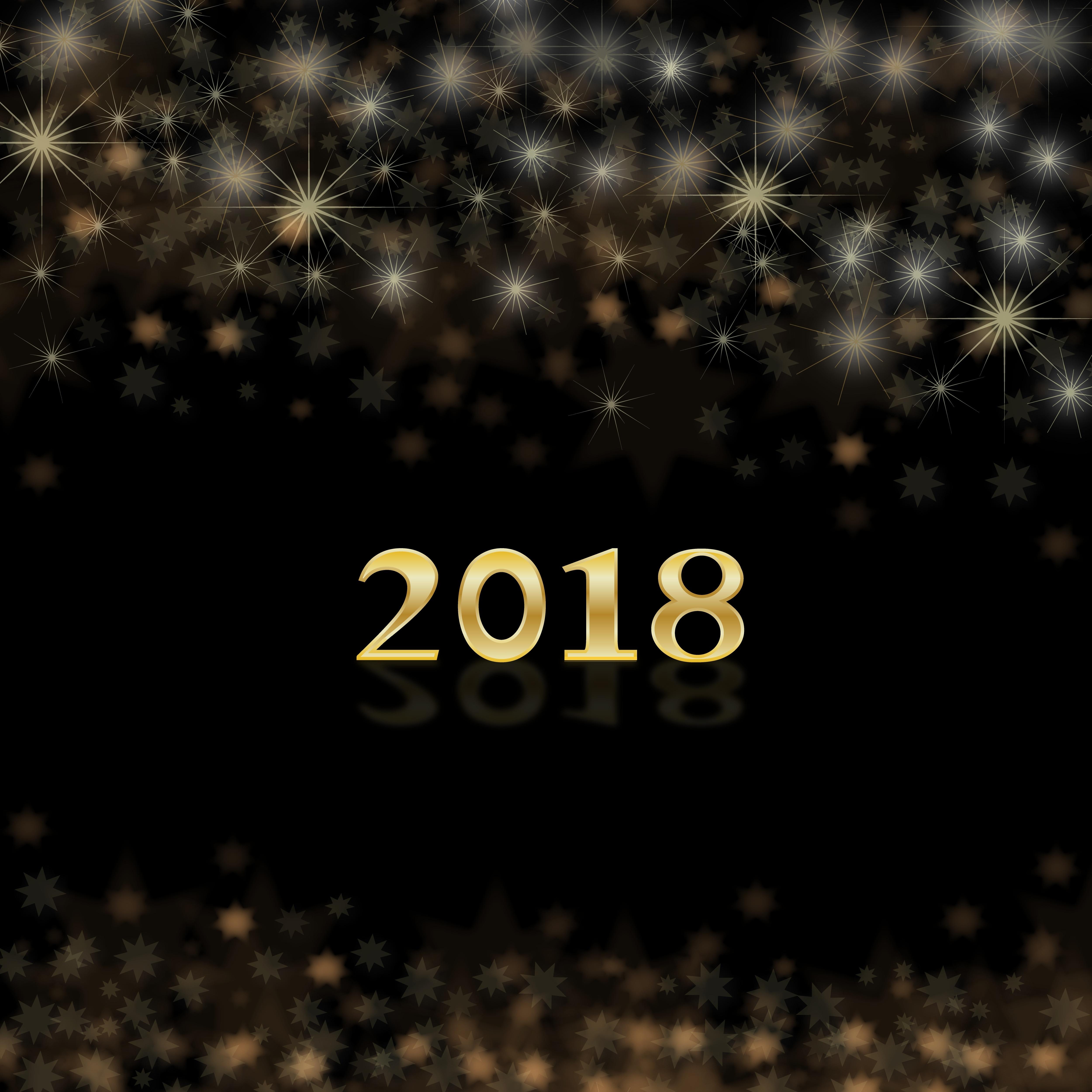 55157壁紙のダウンロード祝日, 新年, 2018年, 2018, 輝く, 輝き, 数字, 番号-スクリーンセーバーと写真を無料で