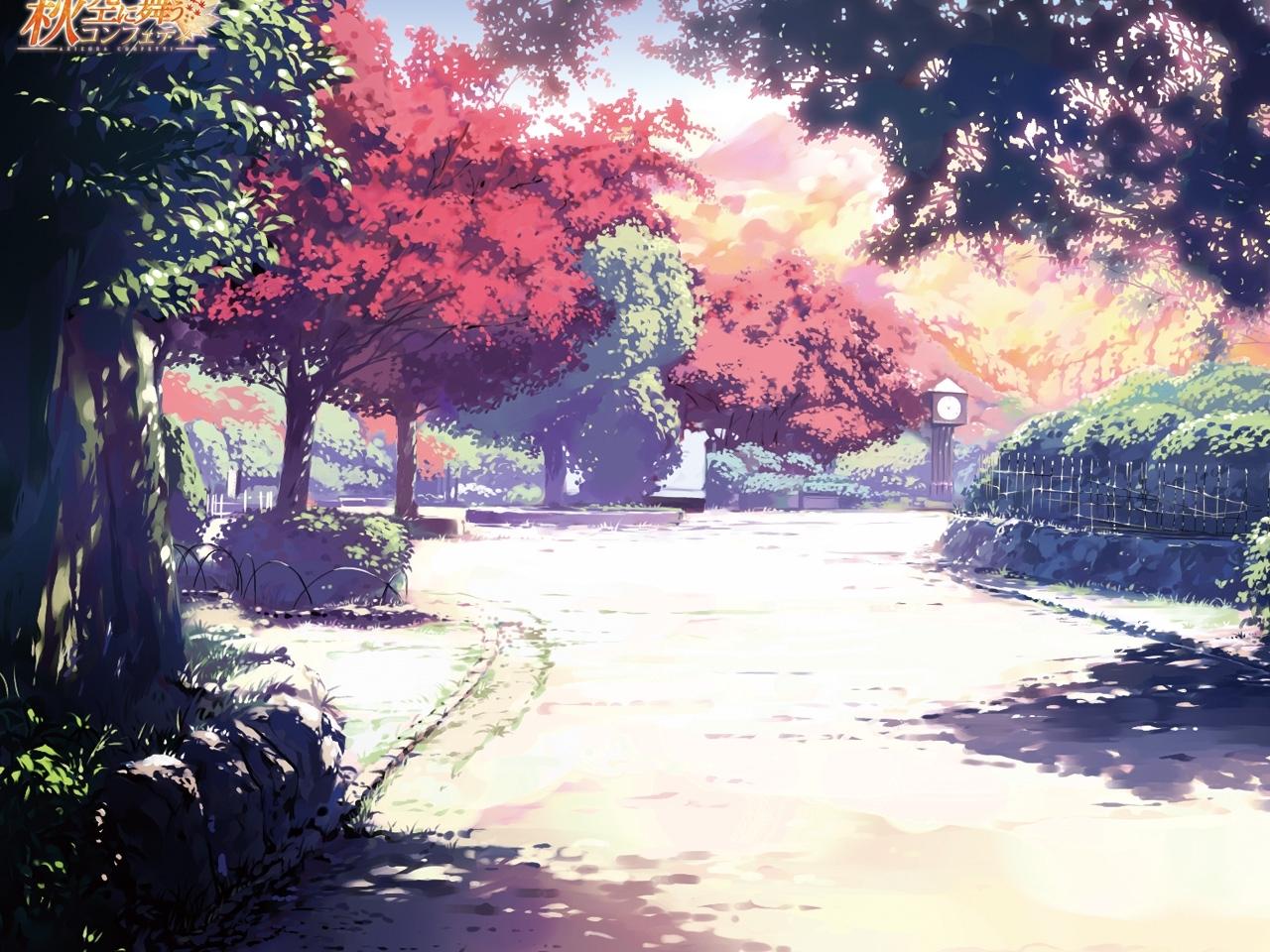 26708 descargar fondo de pantalla Anime, Paisaje, Árboles: protectores de pantalla e imágenes gratis
