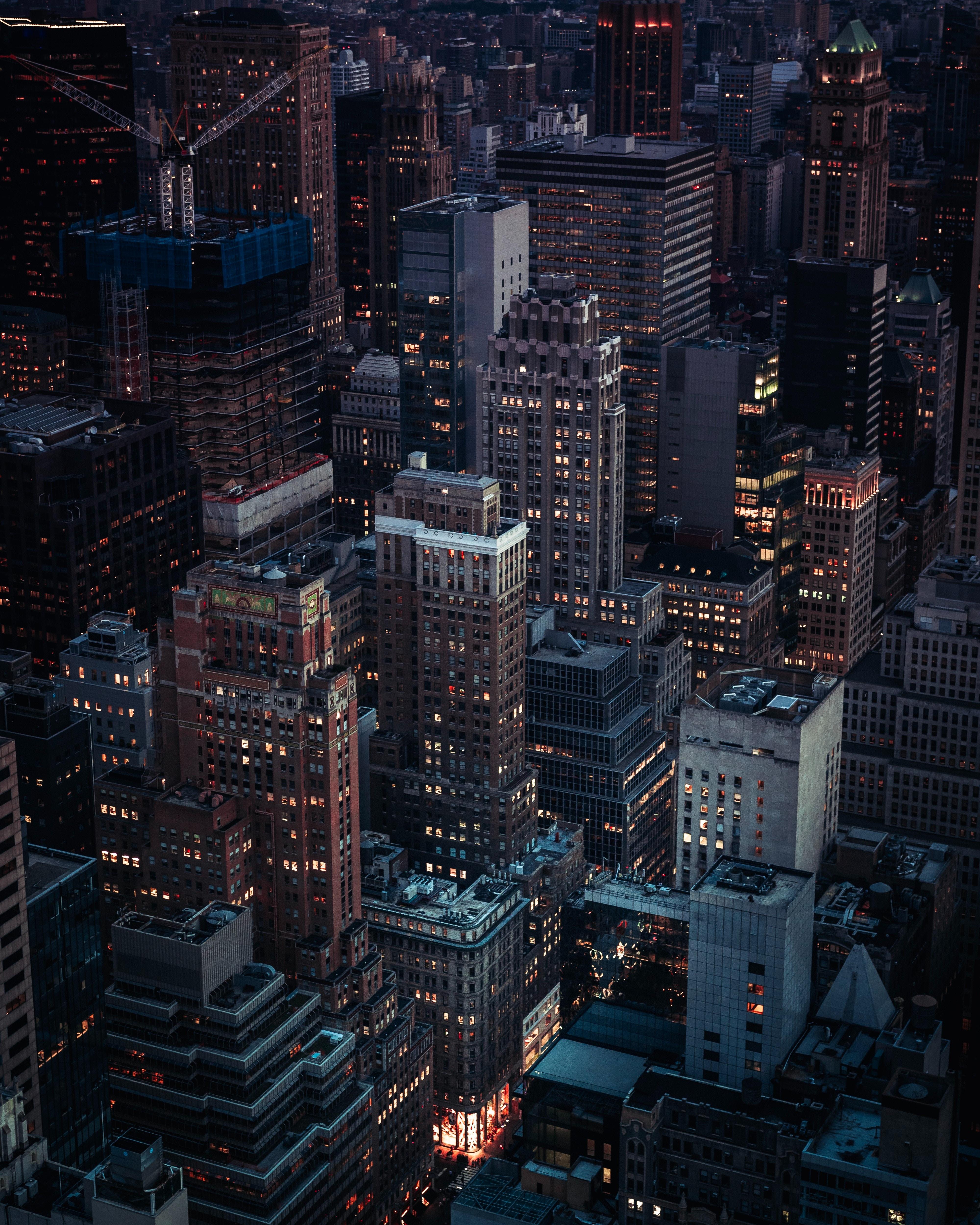 96758 скачать обои Архитектура, Города, Здания, Ночной Город, Вечер - заставки и картинки бесплатно