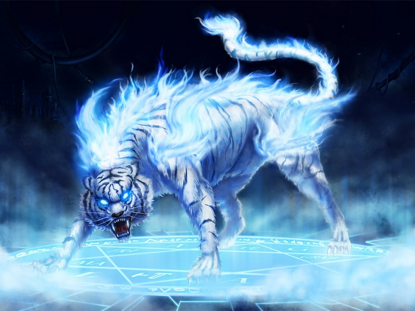 29798 download wallpaper Animals, Fantasy, Tigers screensavers and pictures for free