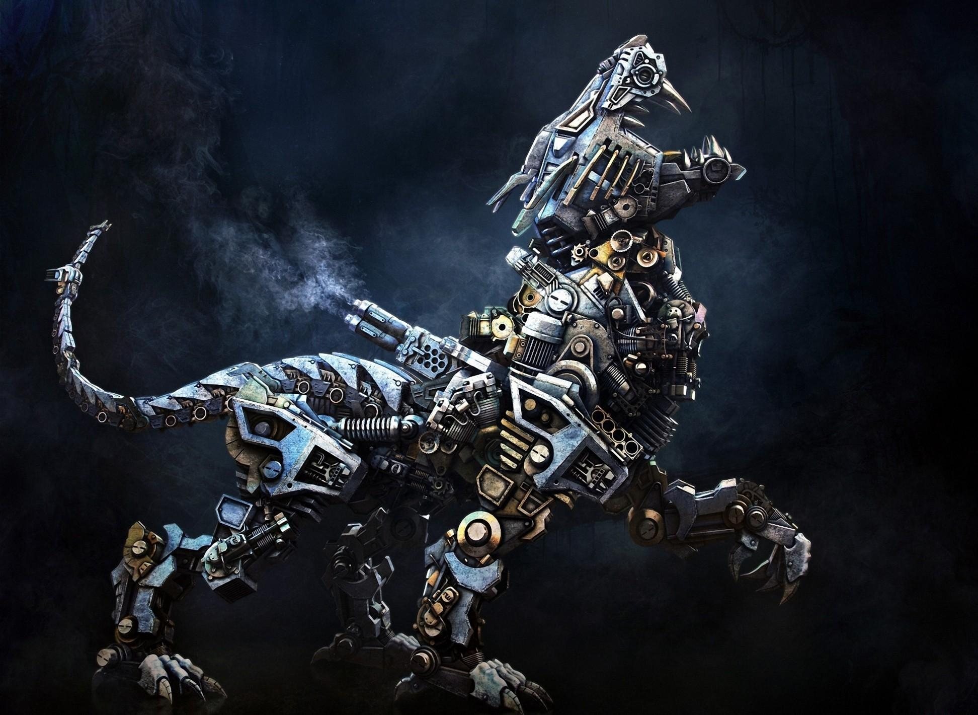 135127 download wallpaper Fantasy, Cyborg, Robot, Animal, Iron screensavers and pictures for free