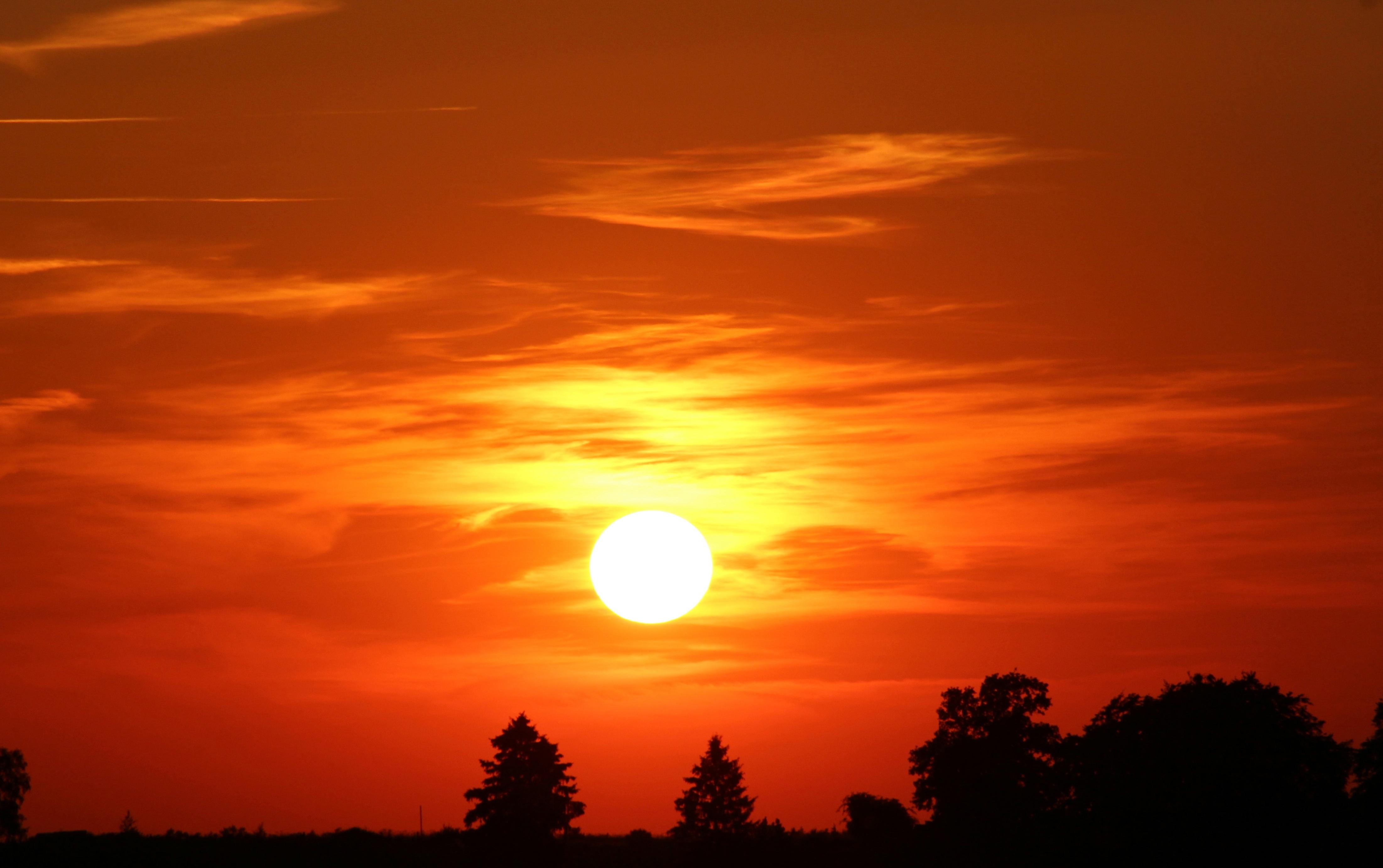 53704 télécharger le fond d'écran Coucher De Soleil, Nature, Sky, Nuages - économiseurs d'écran et images gratuitement