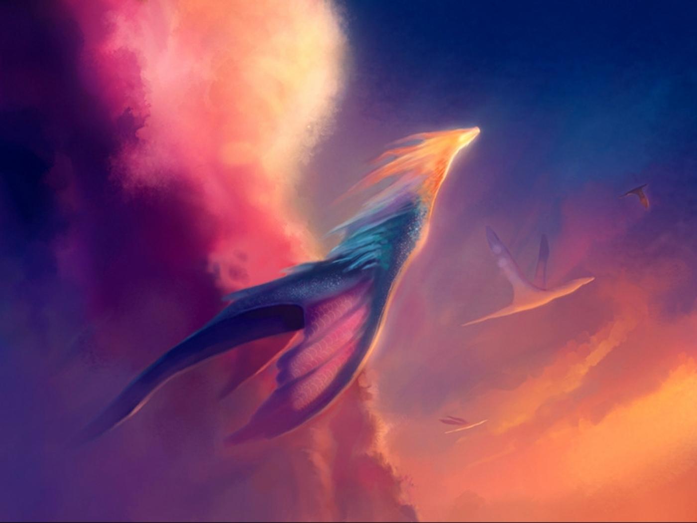 24301 descargar fondo de pantalla Fantasía, Dragones, Nubes: protectores de pantalla e imágenes gratis