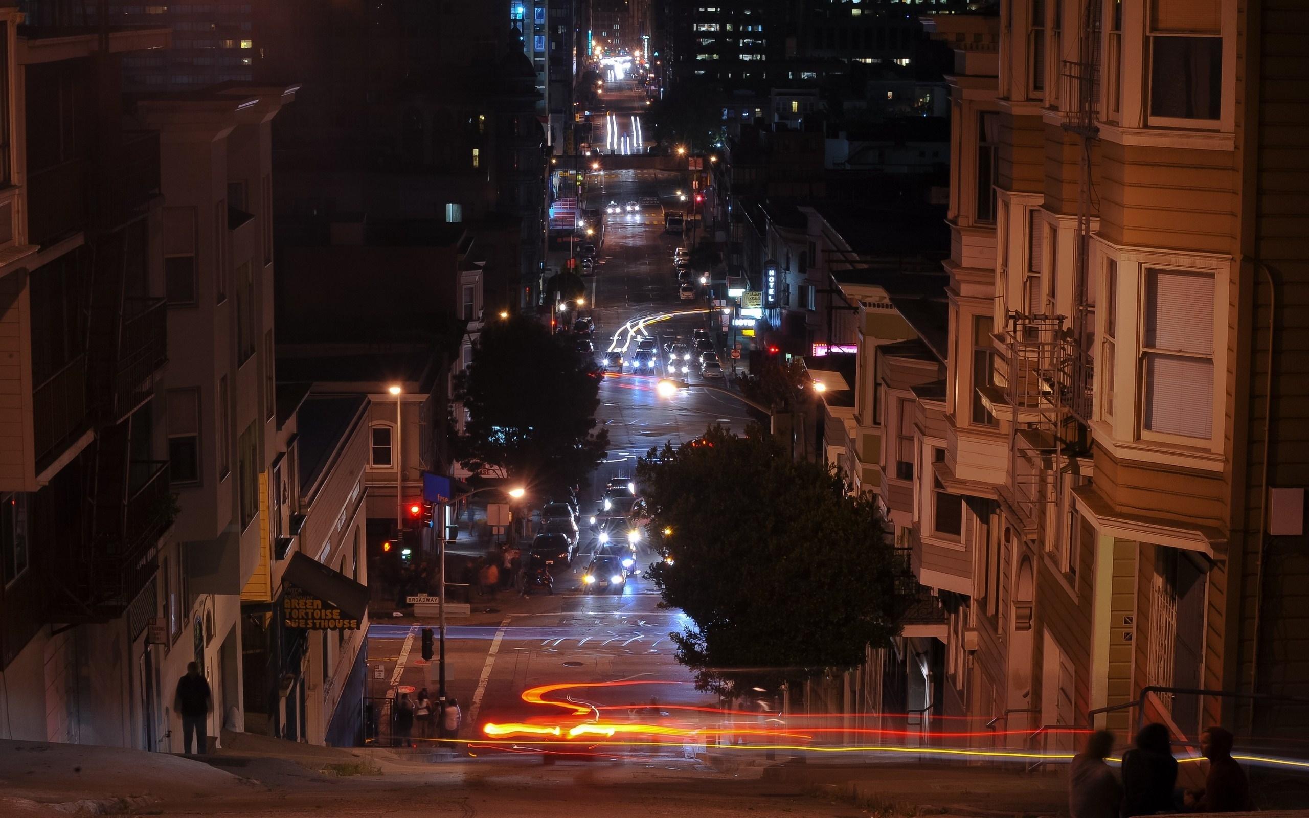 23829 скачать обои Пейзаж, Города, Дома, Улицы, Ночь - заставки и картинки бесплатно