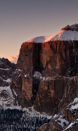 148447 Salvapantallas y fondos de pantalla Nieve en tu teléfono. Descarga imágenes de Naturaleza, Nieve, Vértice, Arriba, Montañas gratis