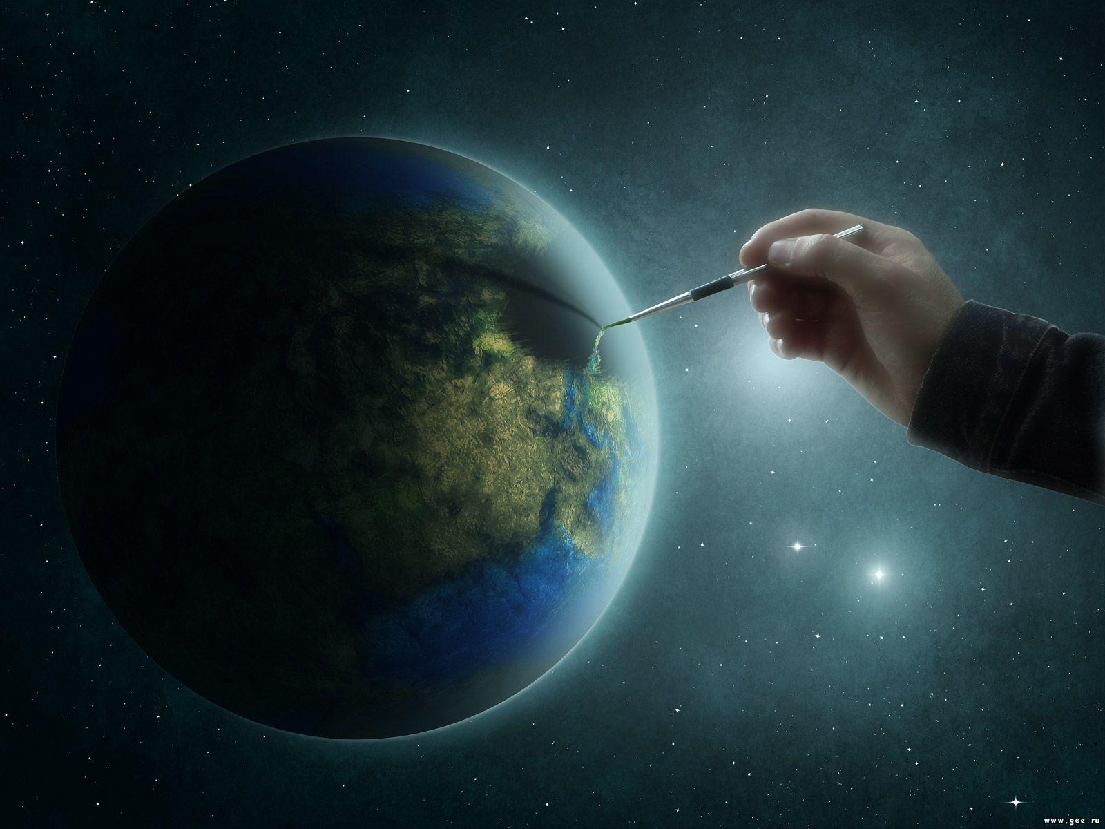 7743 скачать обои Юмор, Планеты, Космос - заставки и картинки бесплатно