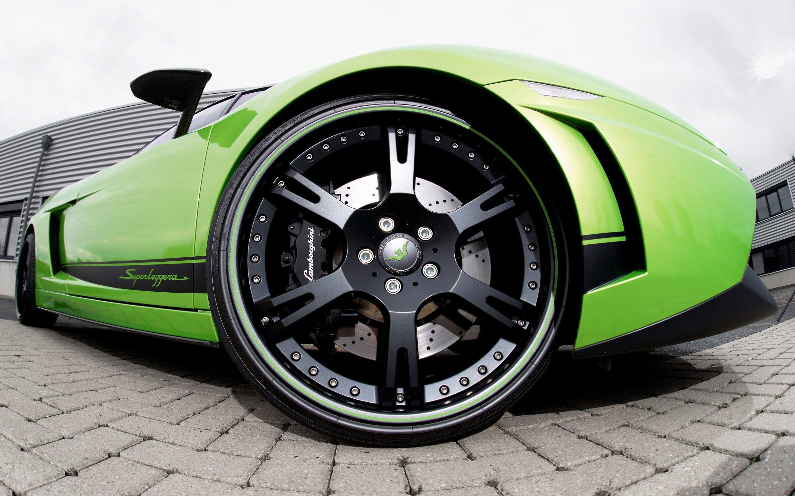 108792 скачать обои Ламборджини (Lamborghini), Тачки (Cars), Зеленый, Колесо - заставки и картинки бесплатно