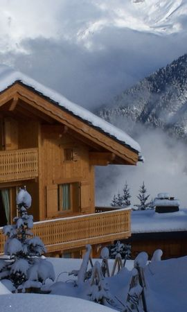50369 скачать обои Пейзаж, Природа, Дома, Снег - заставки и картинки бесплатно