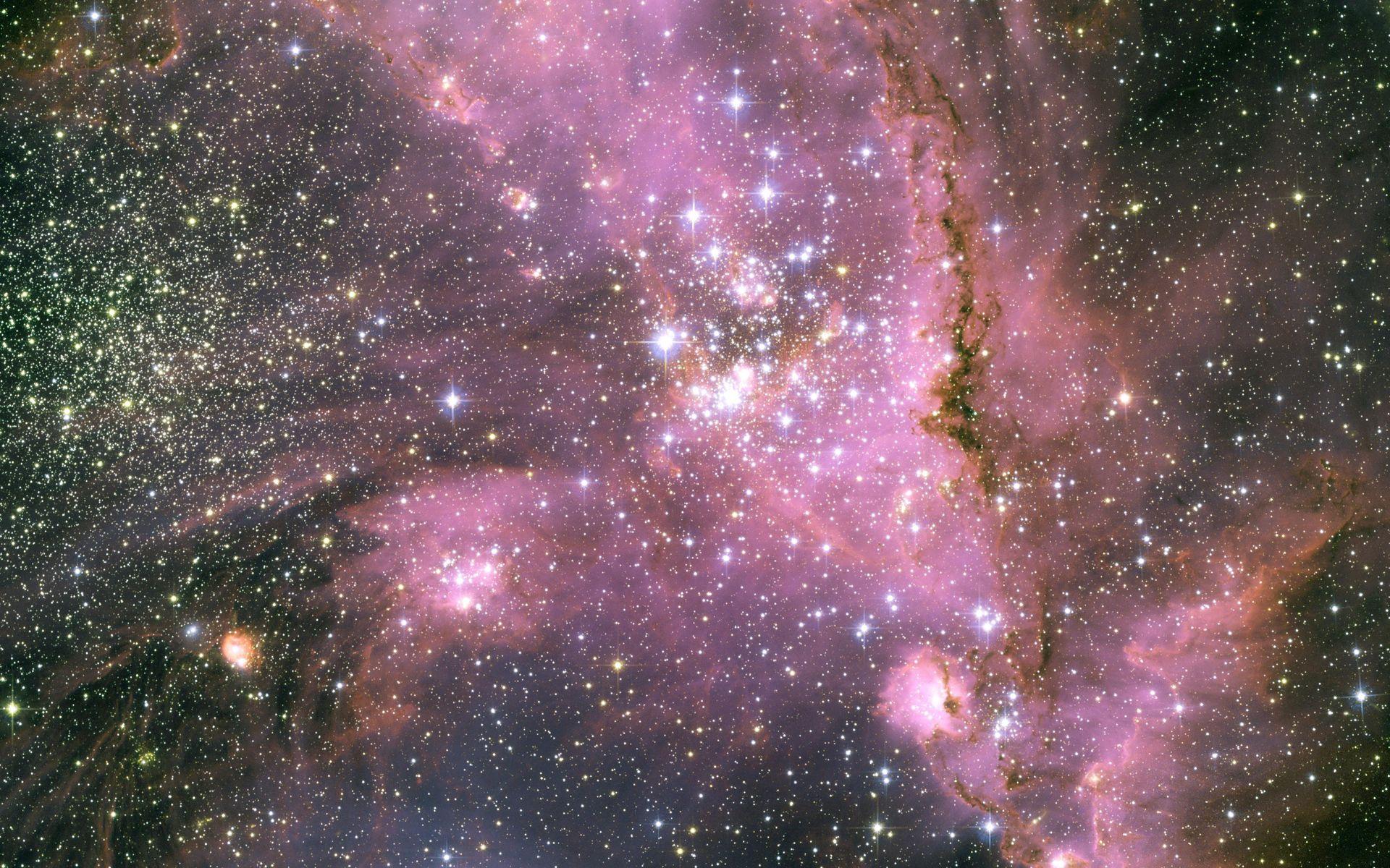 75559 скачать обои Розовый, Галактика, Свет, Космос, Звезды - заставки и картинки бесплатно