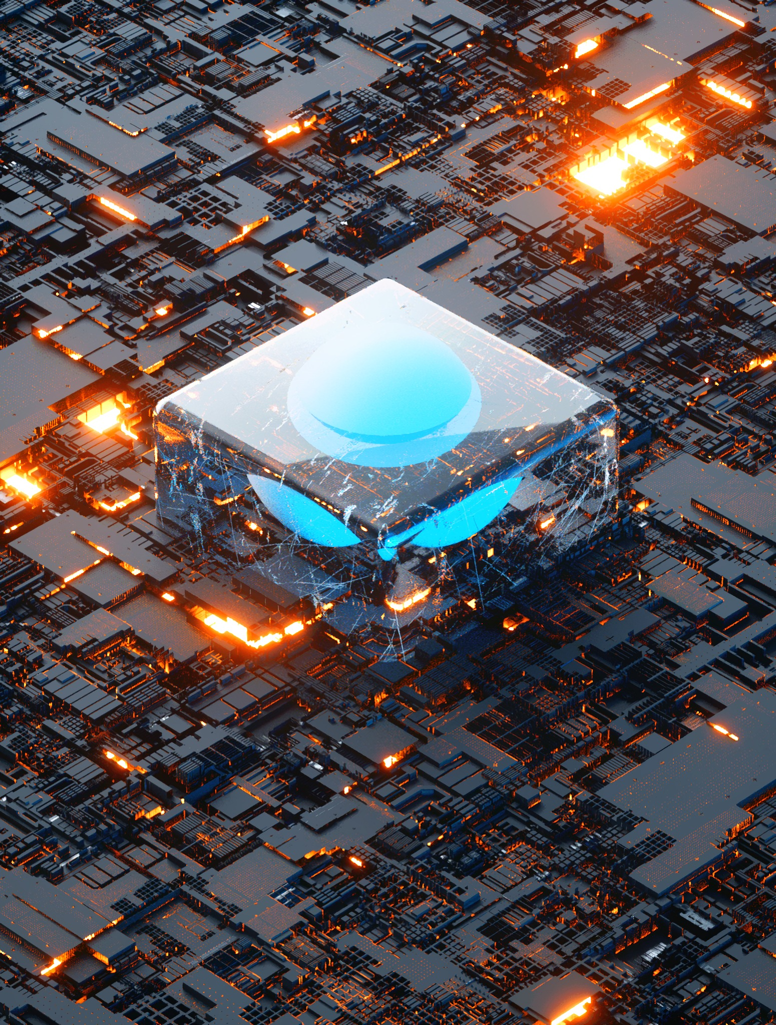 50675 download wallpaper 3D, Cpu, Chip, Processor, Core, Nucleus screensavers and pictures for free