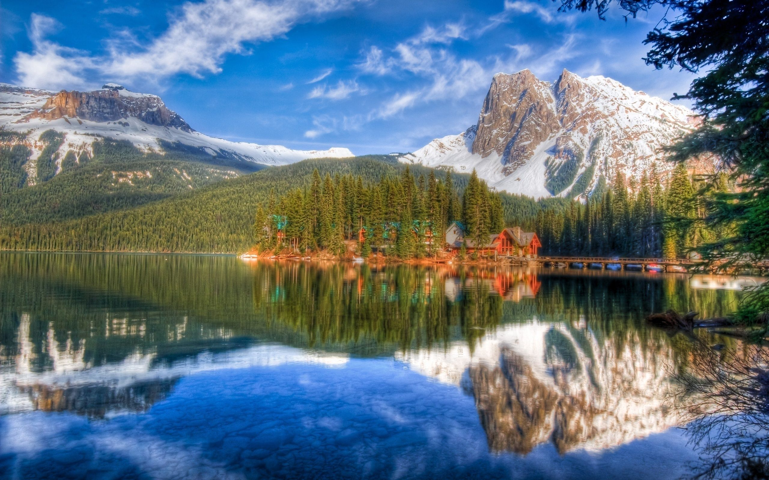73010 Screensavers and Wallpapers Lakes for phone. Download Nature, Lakes, Small Houses, Houses, Shore, Bank, Forest, Coniferous, Colors, Color, Paints, Reflection, Bottom, Sky, Mountains, Landscape pictures for free