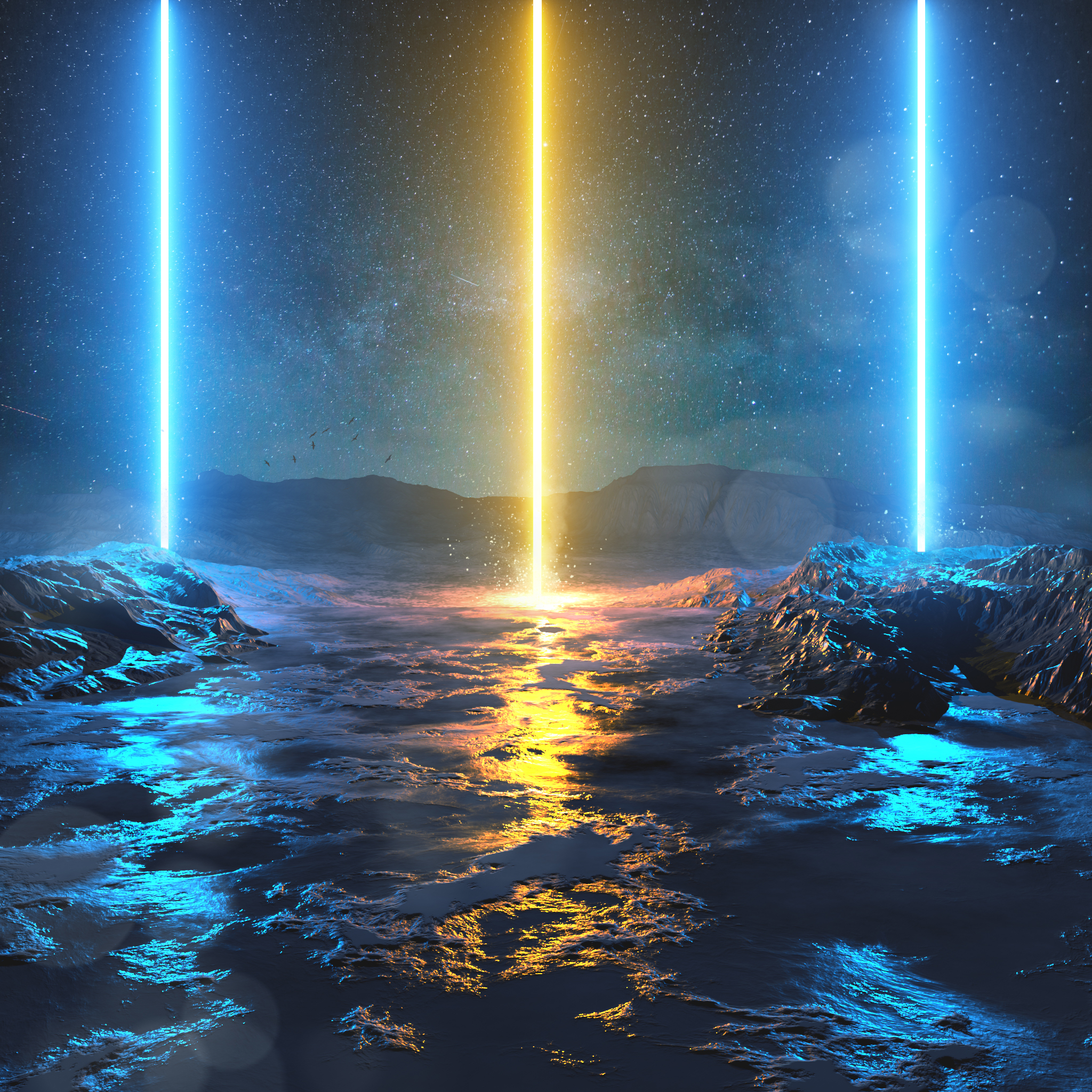 123612 Screensavers and Wallpapers Beams for phone. Download Shine, Light, Bright, Beams, Rays, 3D, Lines pictures for free
