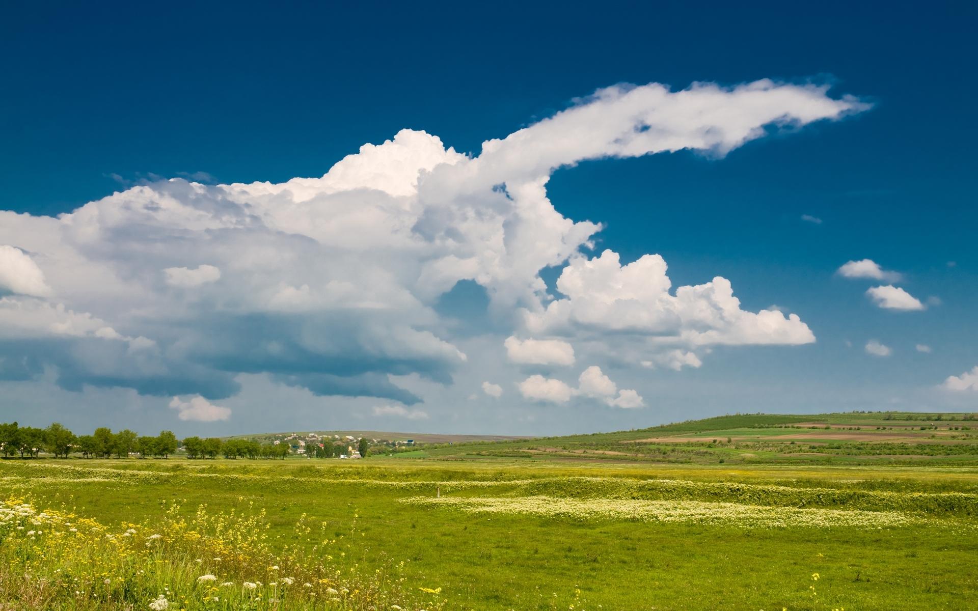1628 скачать обои Пейзаж, Трава, Небо - заставки и картинки бесплатно