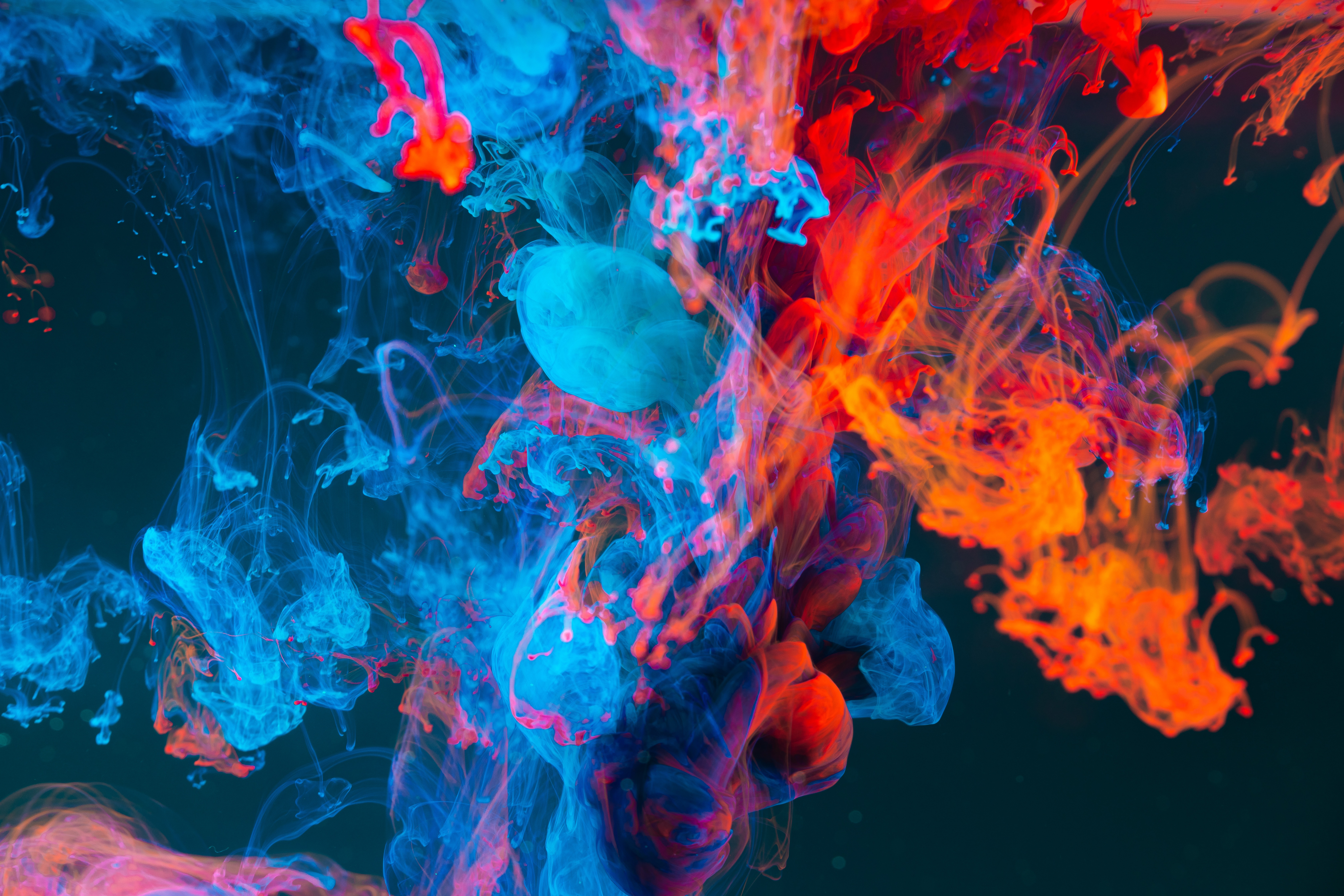 147157 Screensavers and Wallpapers Liquid for phone. Download Paint, Abstract, Multicolored, Motley, Liquid, Clots, Thickening pictures for free
