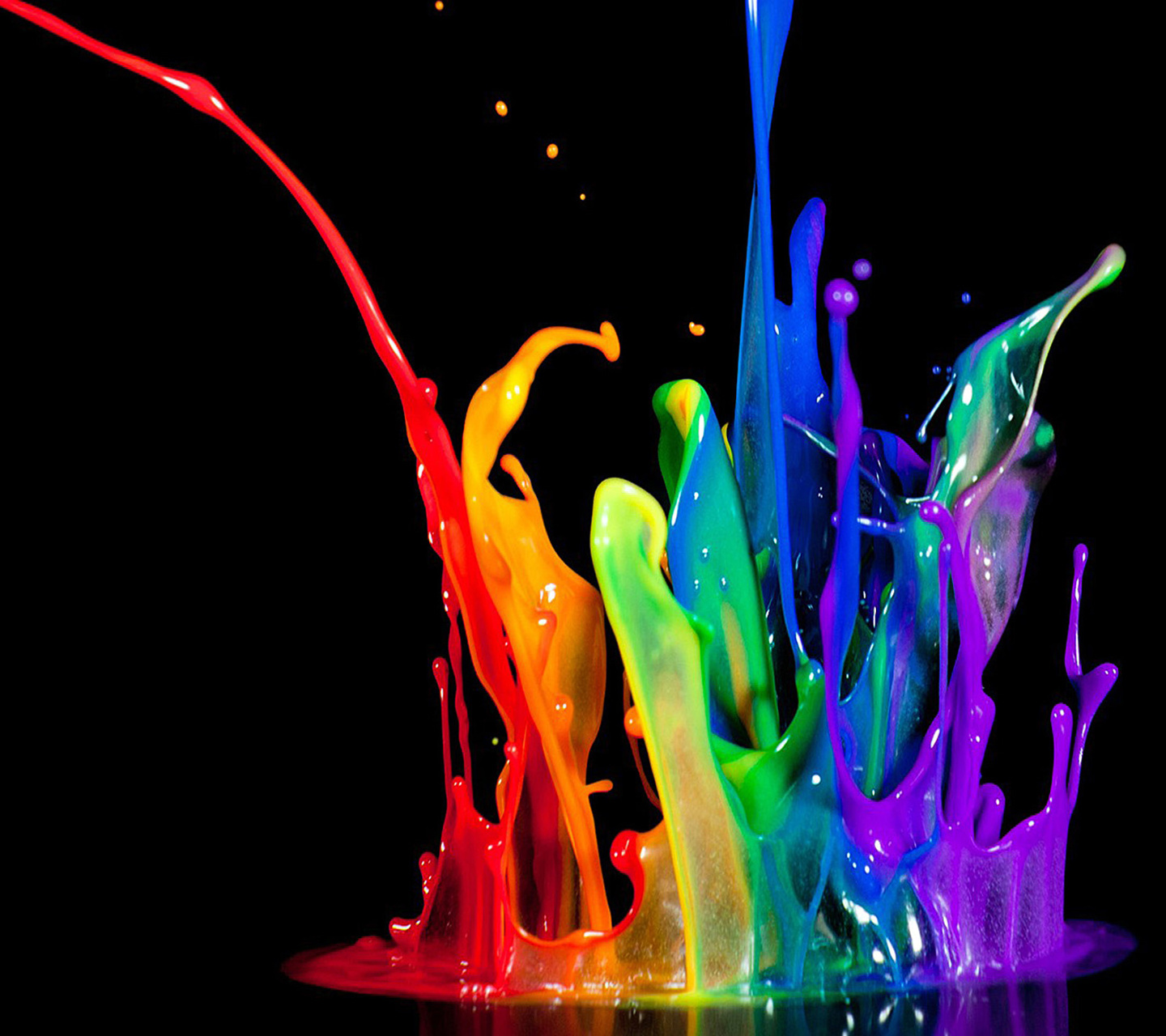 Download mobile wallpaper Drops, Rainbow, Background for free.